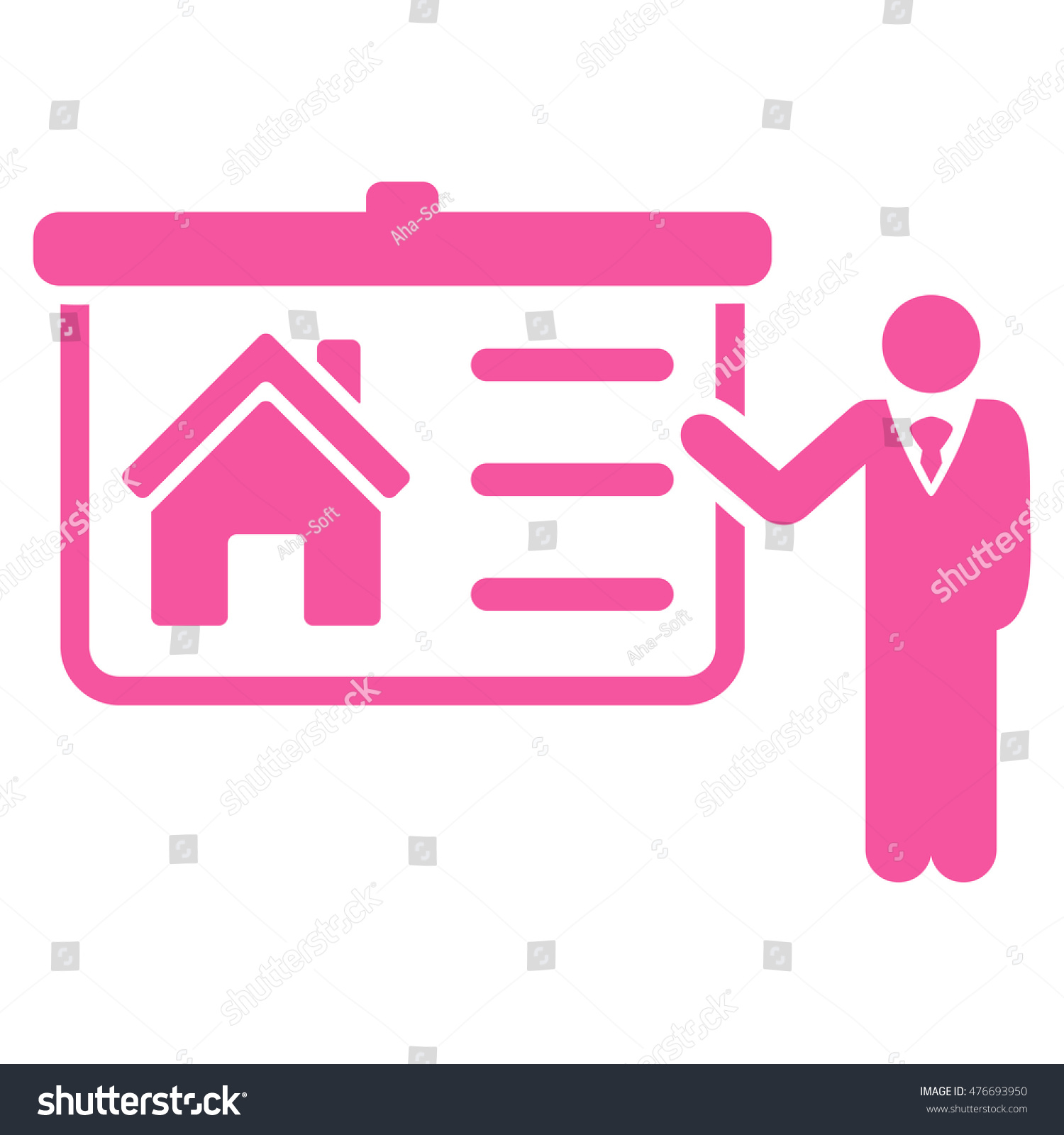 House Presentation Icon Vector Style Flat Stock Vector (Royalty Free ...