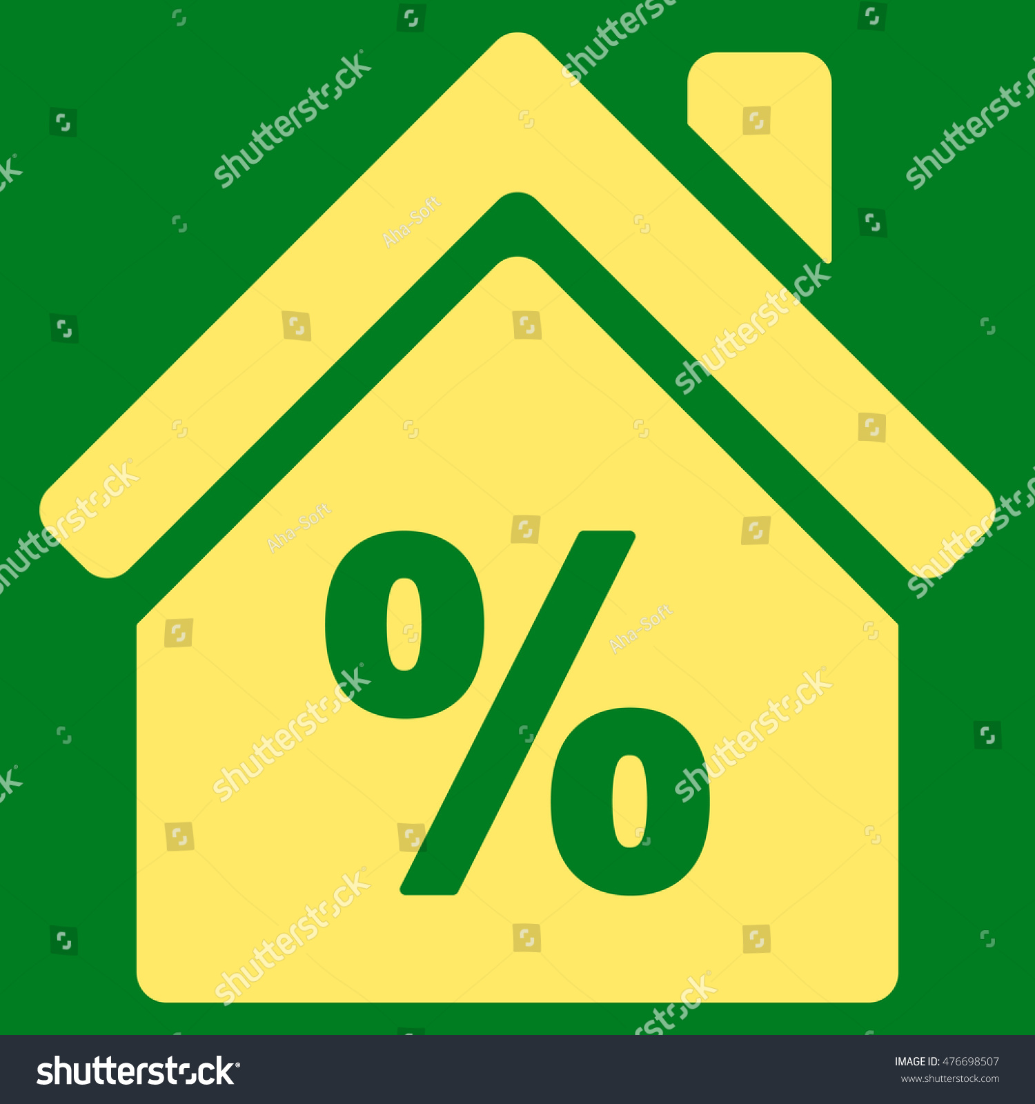 Mortgage Discount Icon Vector Style Flat Stock Vector 476698507 ...