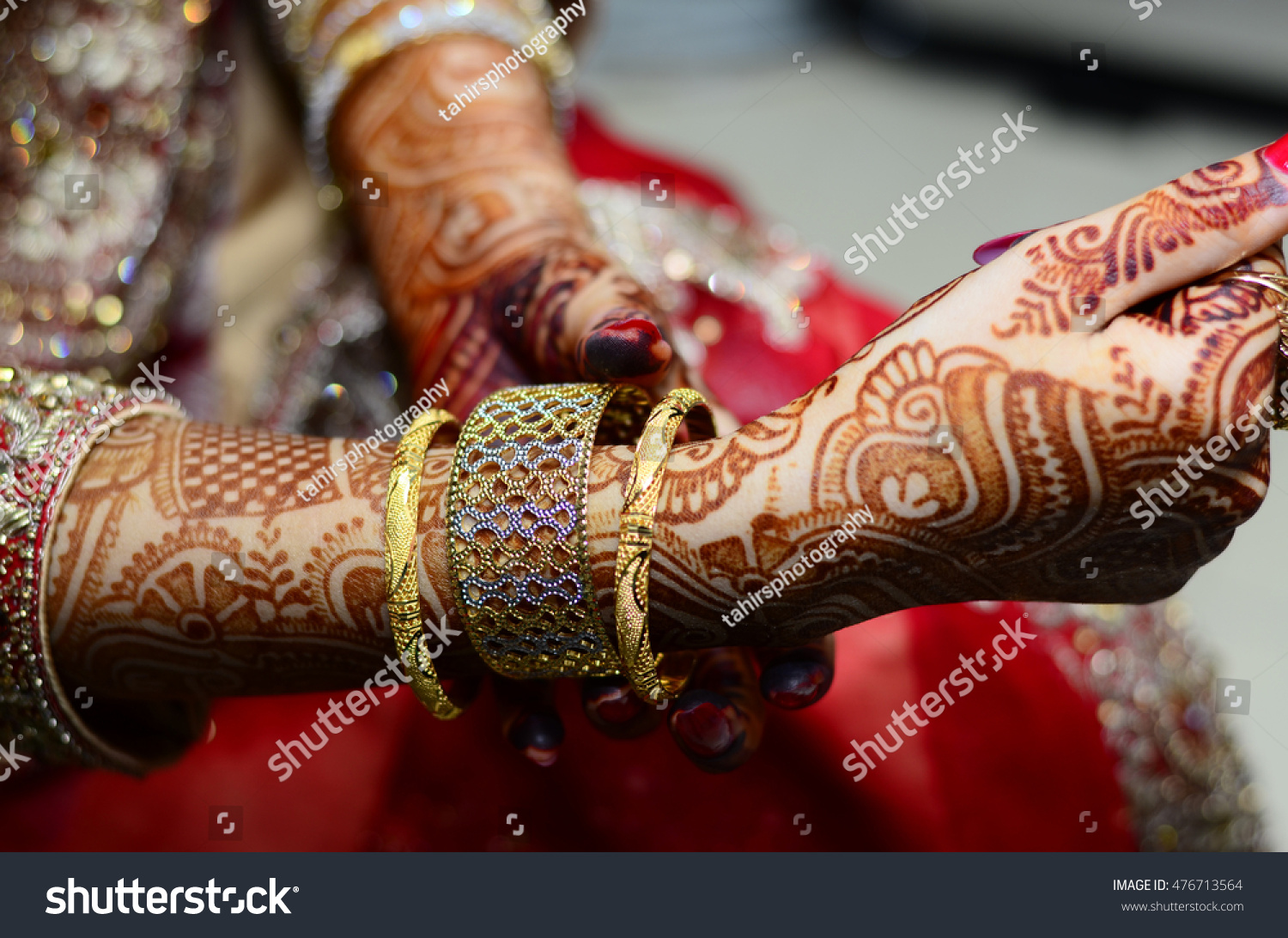 Gold Bangles Hand Graceful Poses Girls Stock Photo 476713564 ...
