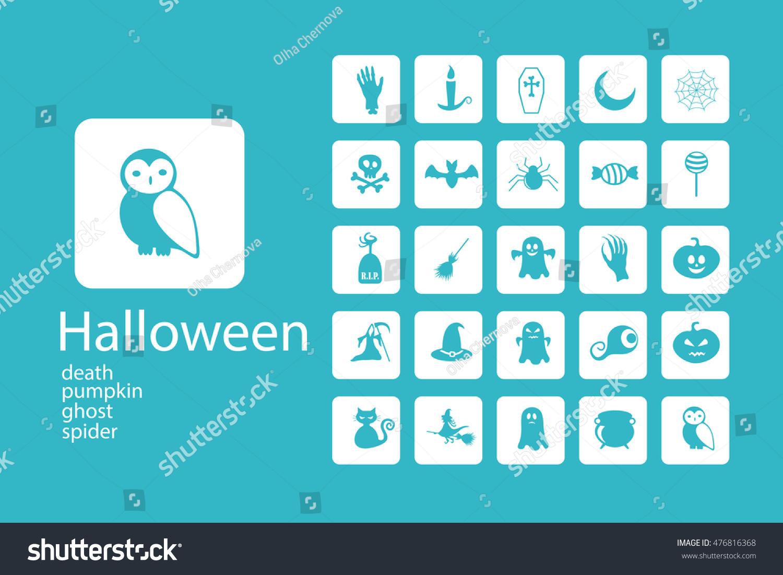 Set halloween characters scrapbook elements vector stock vector set of halloween characters scrapbook elements vector illustration cat bat spider buycottarizona Image collections