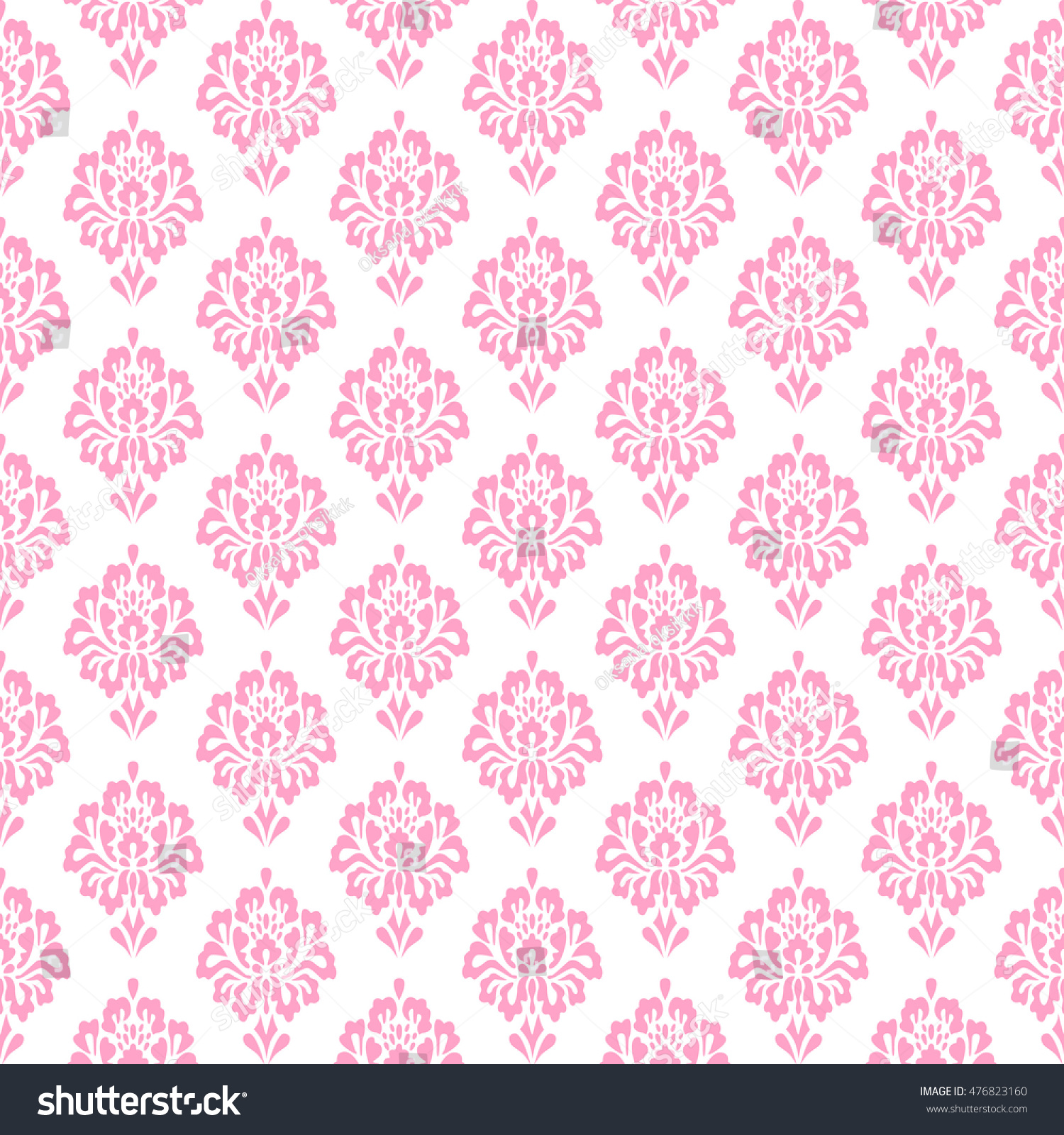 Damask Pattern Seamless Vintage Floral Background Stock Vector