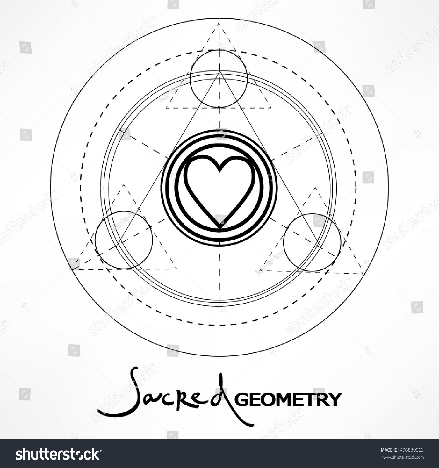 Symbol trinity icon force lettering sacred stock vector 476839063 symbol of trinity icon force with lettering sacred geometry isolated vector illustration trendy pooptronica Images