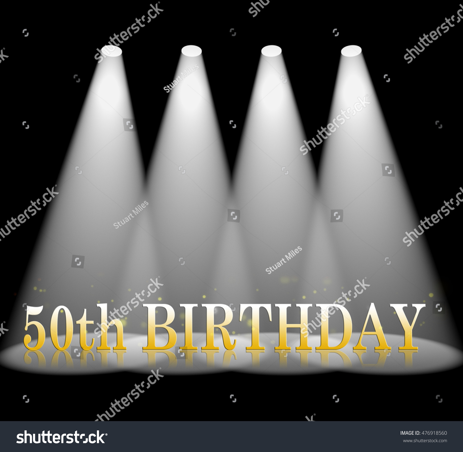 Fiftieth Birthday Meaning 50th Greeting Celebration Stock