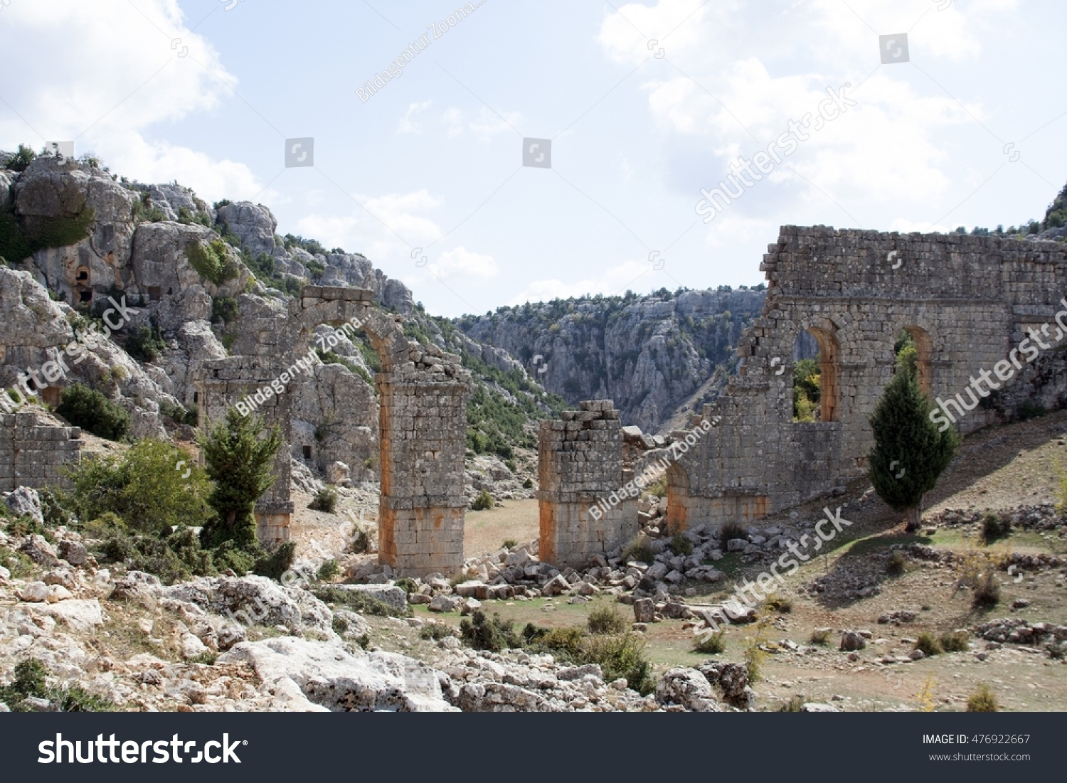 Adana Uzuncaburc Turkey Ruins Ancient Cities Stockfoto ...