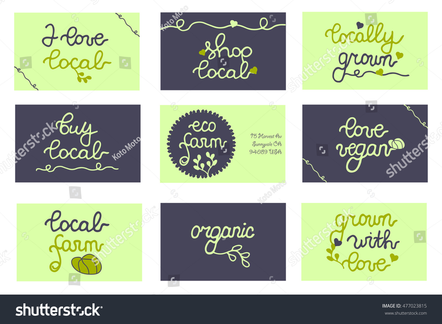 Badges business cards package bag concept stock vector 477023815 badges business cards for package bag concept local promo farmers market magicingreecefo Choice Image