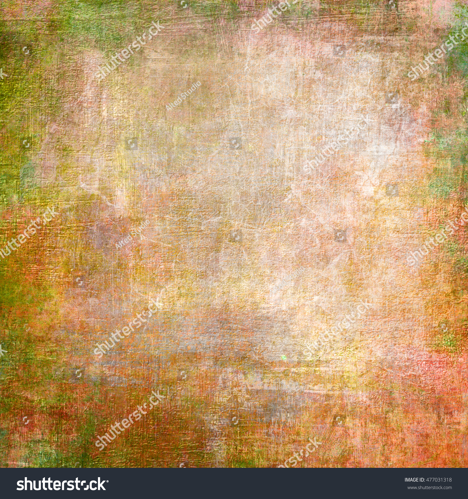 Abstract old grunge brown and green wall background | EZ Canvas