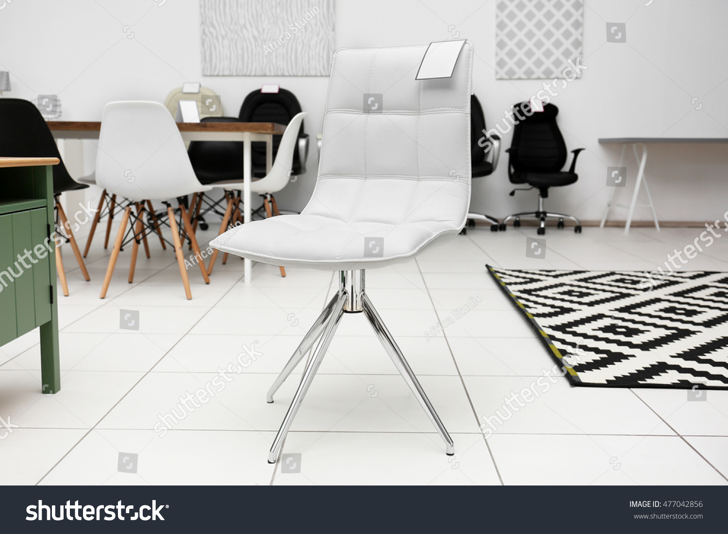 Modern Chair Sale Furniture Store Stock Photo 477042856