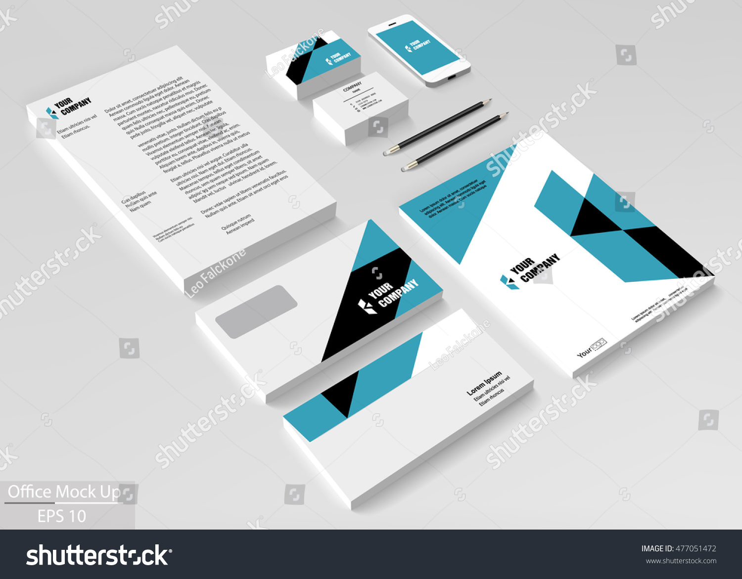business corporate identity template set vector stock vector