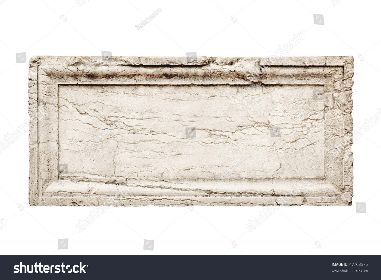 Carved Stone Slab : Ancient stone slab carved frame stock photo