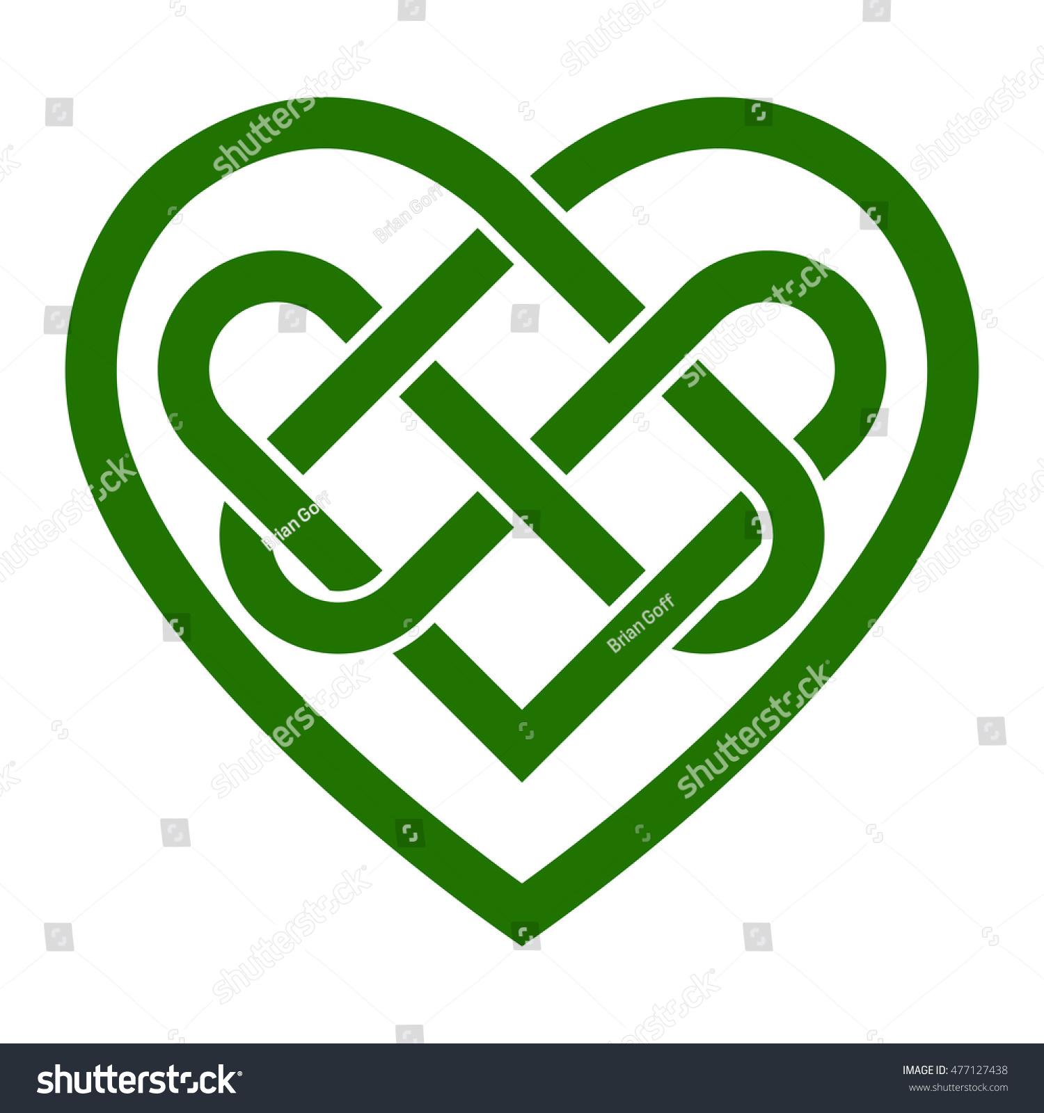 Celtic Irish Heart Romantic Love Graphic Stock Illustration