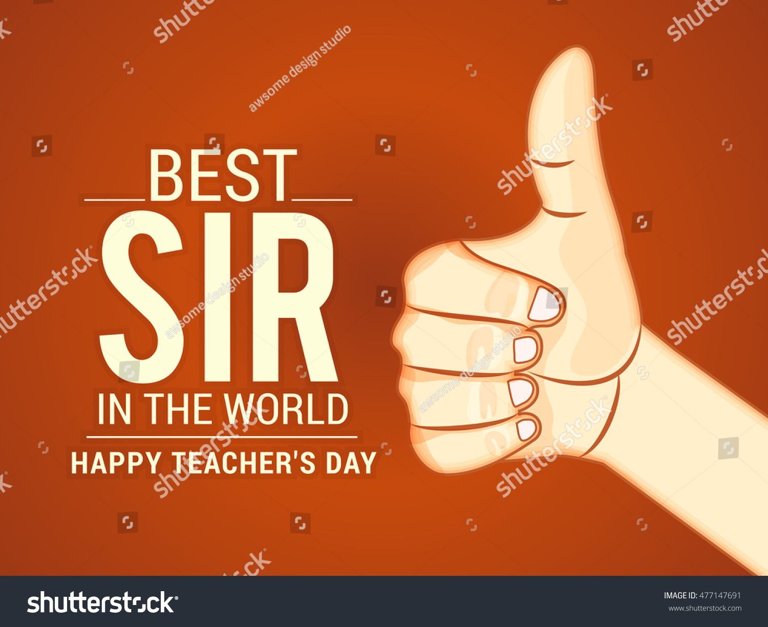 Creative greeting card teachers day celebration stock vector creative greeting card of teachers day celebration kristyandbryce Images
