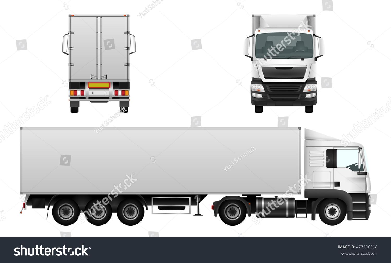 box truck vector mock advertising corporate stock vector royalty