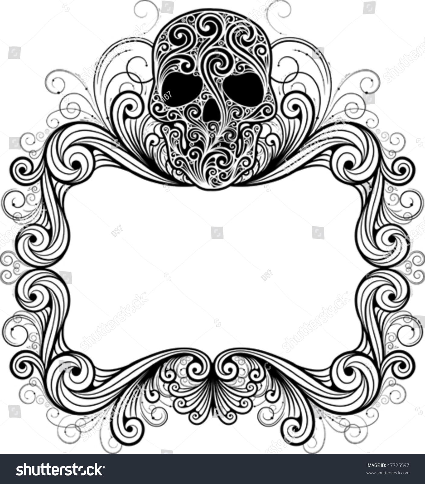 Frame Skull Stock Vector (Royalty Free) 47725597 - Shutterstock