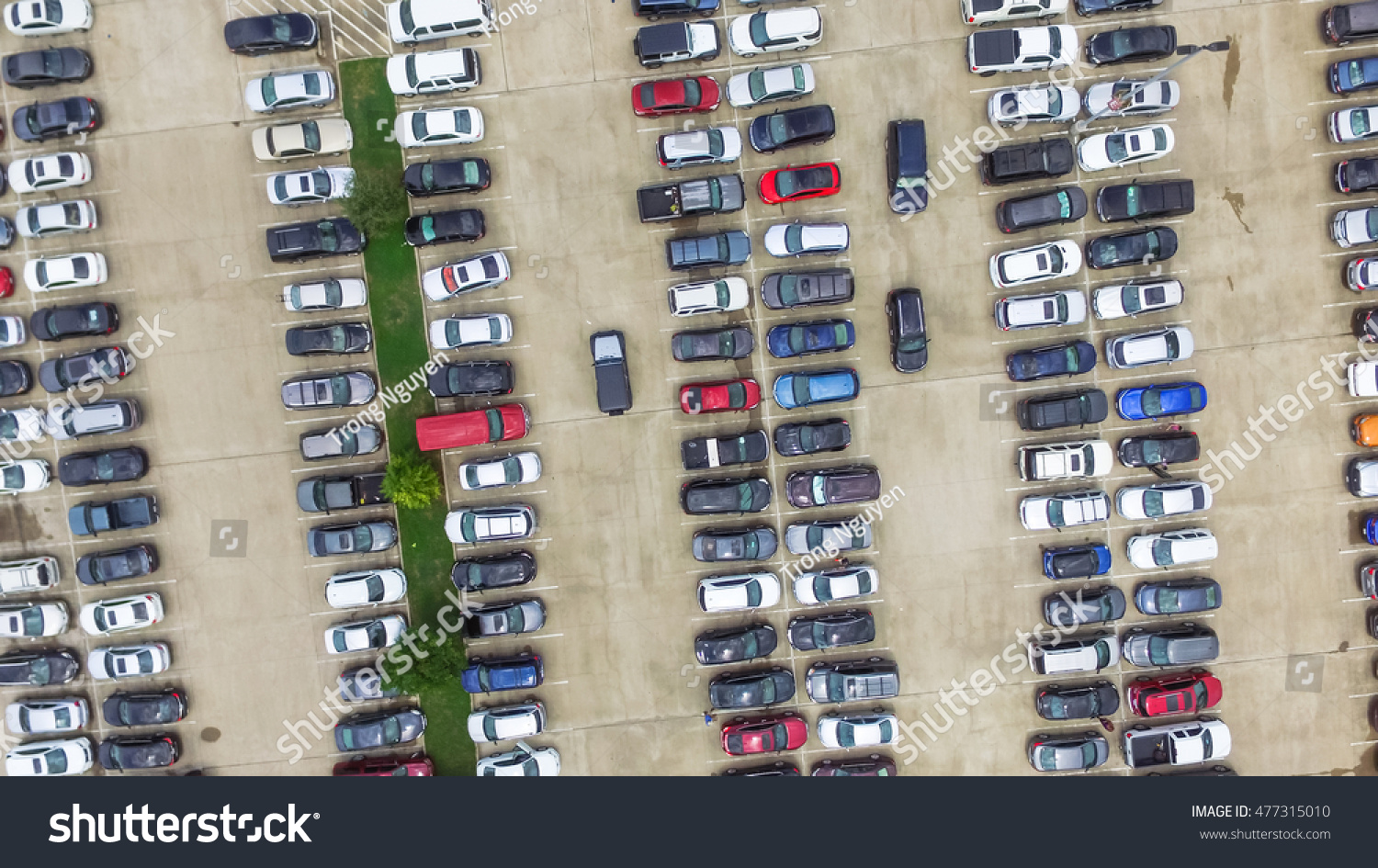 Car Lots In Houston >> Aerial View Full Cars Large Outdoor Stock Photo Edit Now 477315010