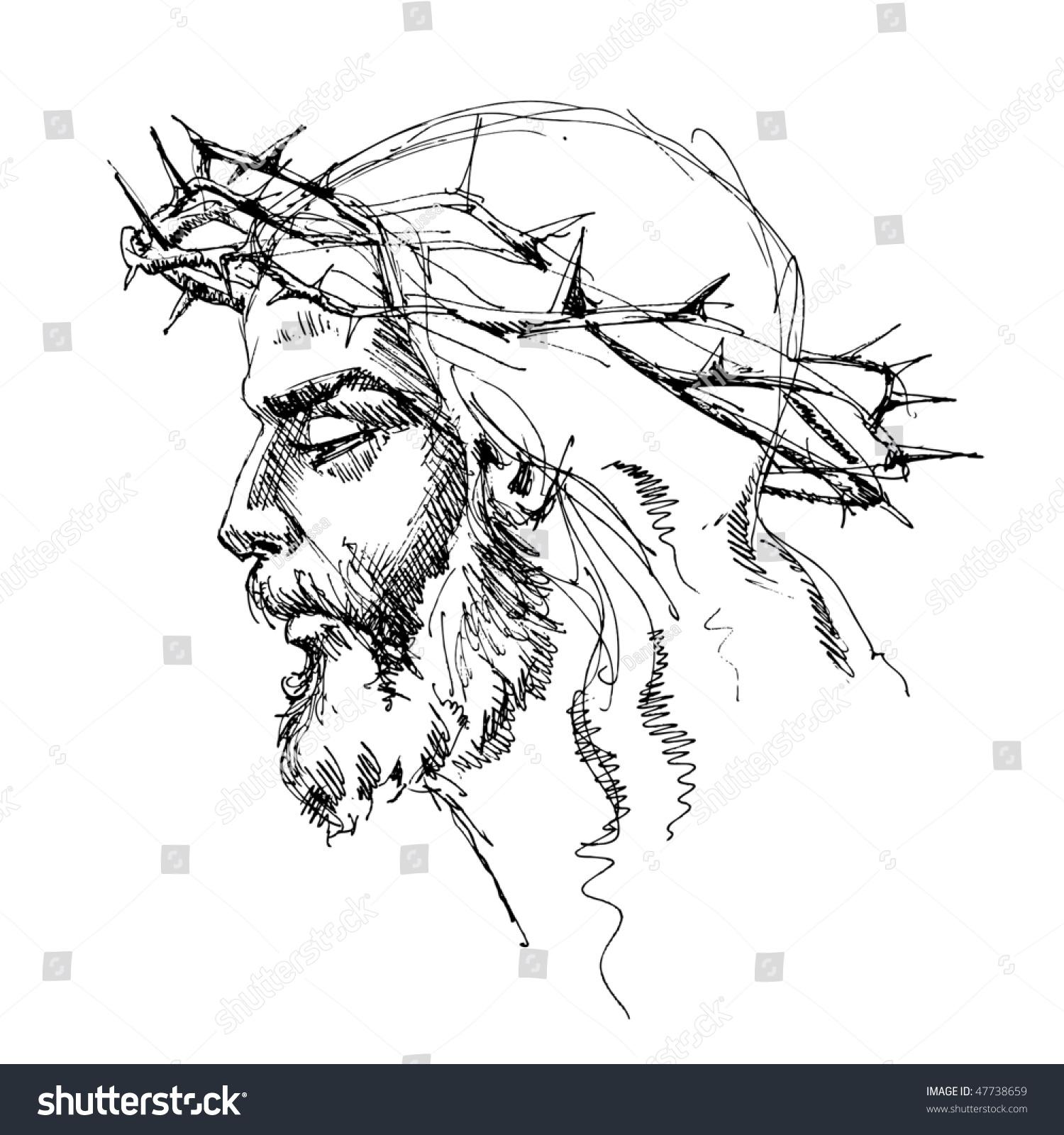 Jesus Christ Crown Thorns Stock Vector 47738659 - Shutterstock