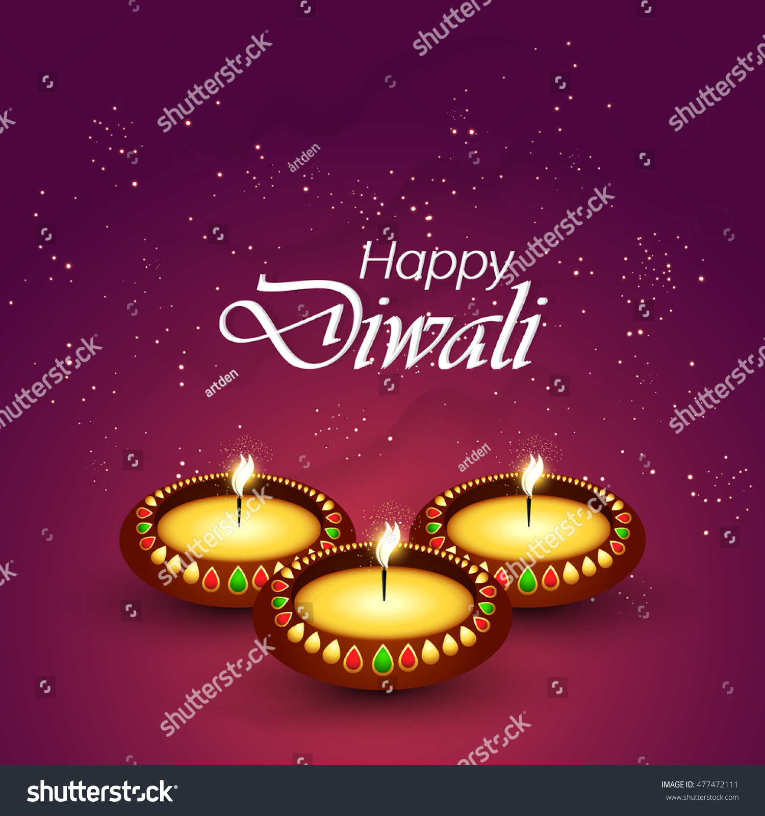 Creative Vector Abstract Happy Diwali Nice Stock Vector 477472111