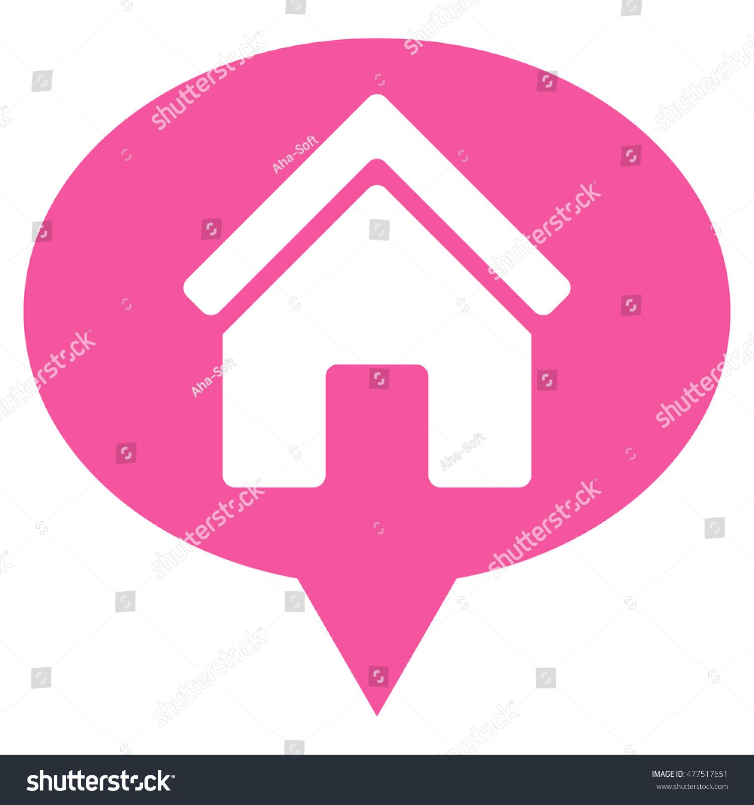 House Info Balloon Icon Vector Style Stock Vector 477517651 ...