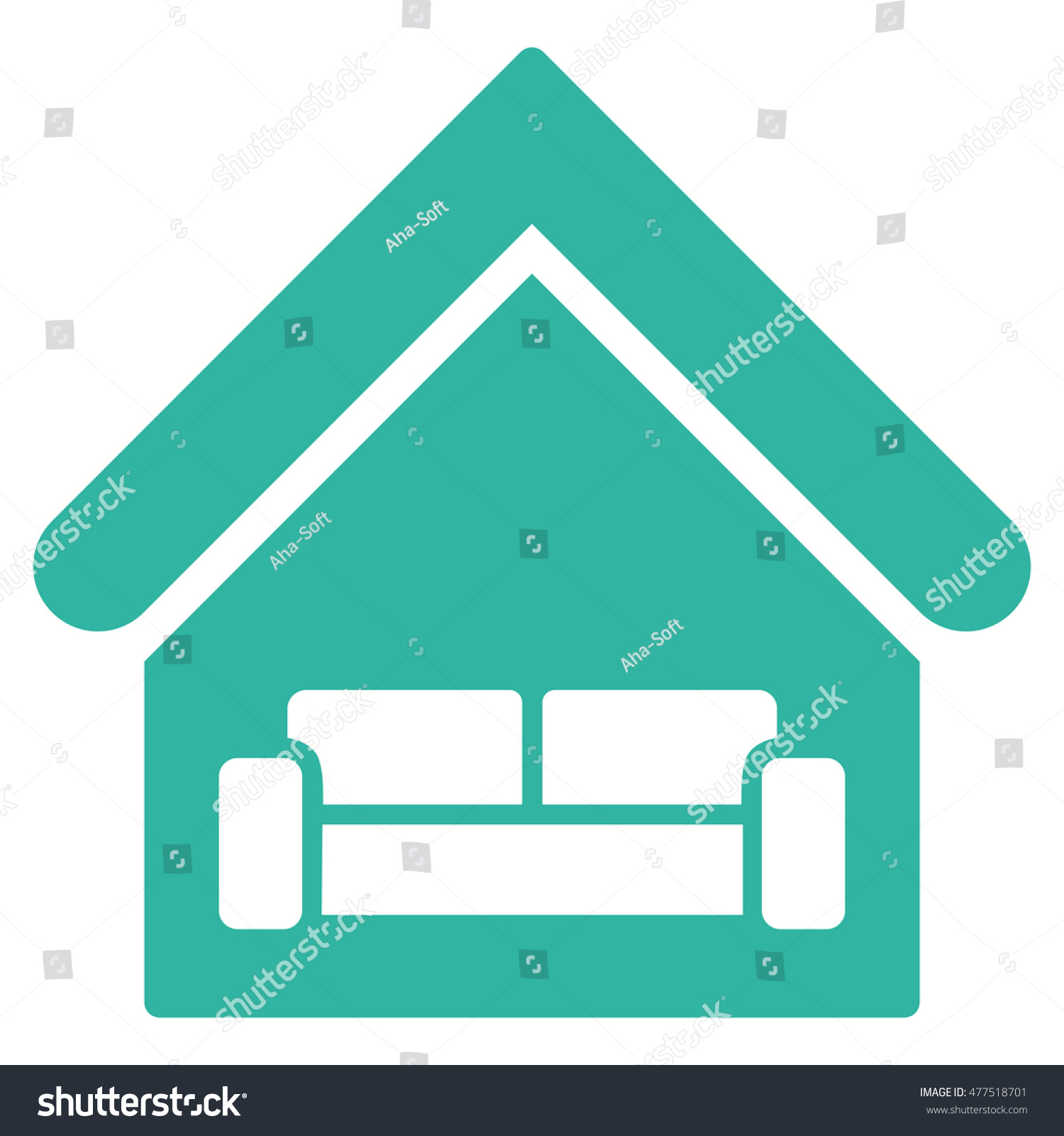 house interior icon vector style flat stock vector 477518701
