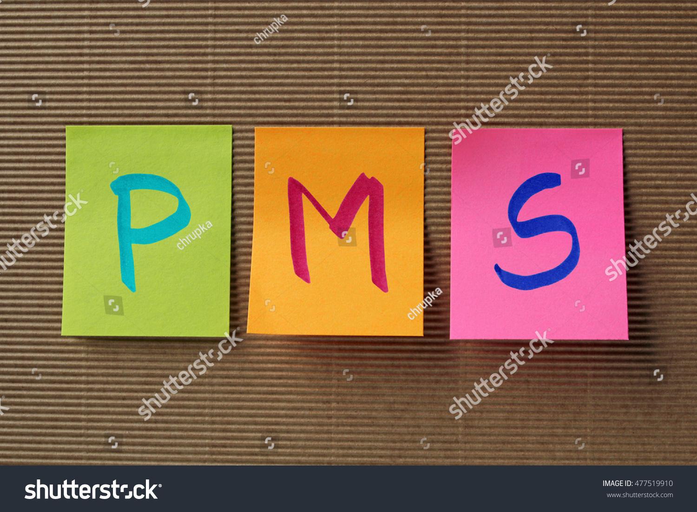 Medical Abbreviation Pms - Pms premenstrual syndrome acronym on colorful sticky notes