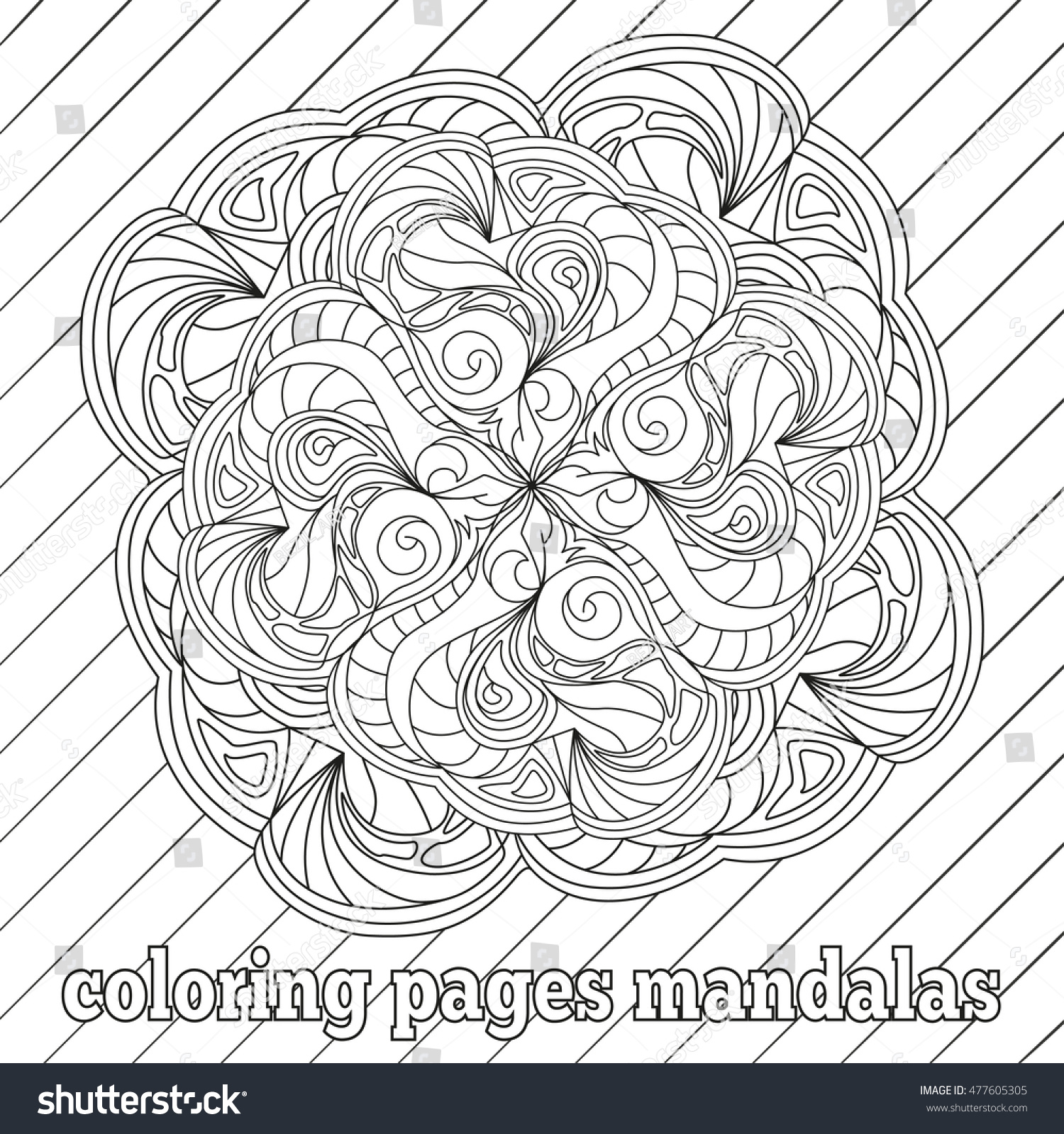 Anti stress colouring pages for adults - Anti Stress Coloring Pages For Adults And Older Children Lines Swirls Spots