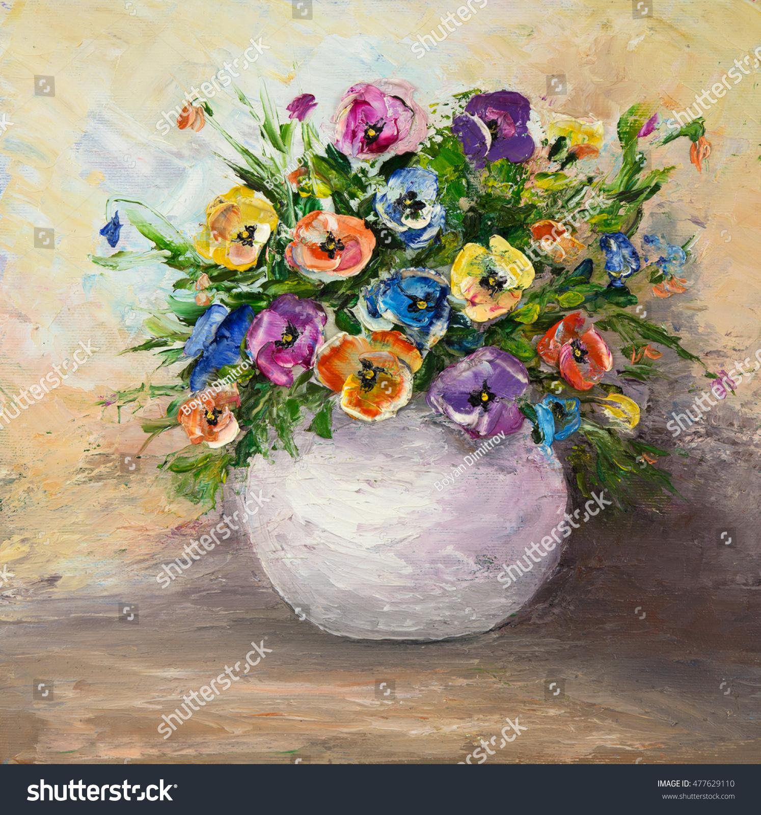 Original oil painting beautiful vase bowl stock illustration original oil painting beautiful vase bowl stock illustration 477629110 shutterstock floridaeventfo Images