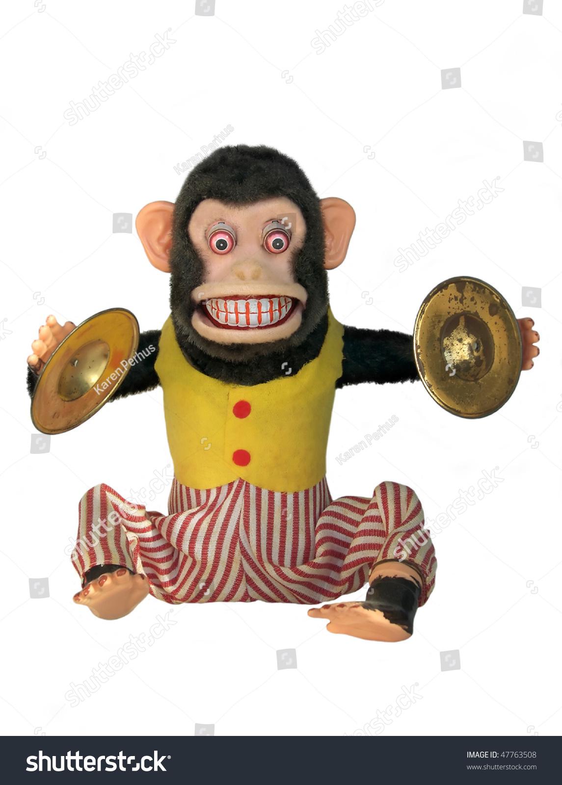 Mechanical Monkey Toy Full Body Isolated Stock Photo Edit Now