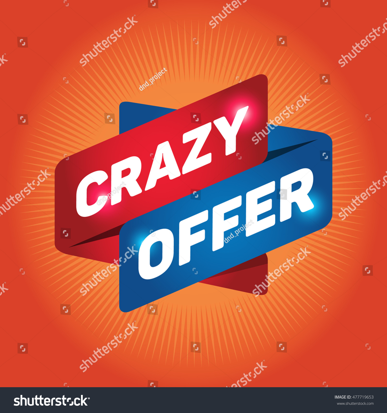 Crazy offer arrow tag sign icon stock vector 477719653 shutterstock crazy offer arrow tag sign icon discount symbol special offer label biocorpaavc