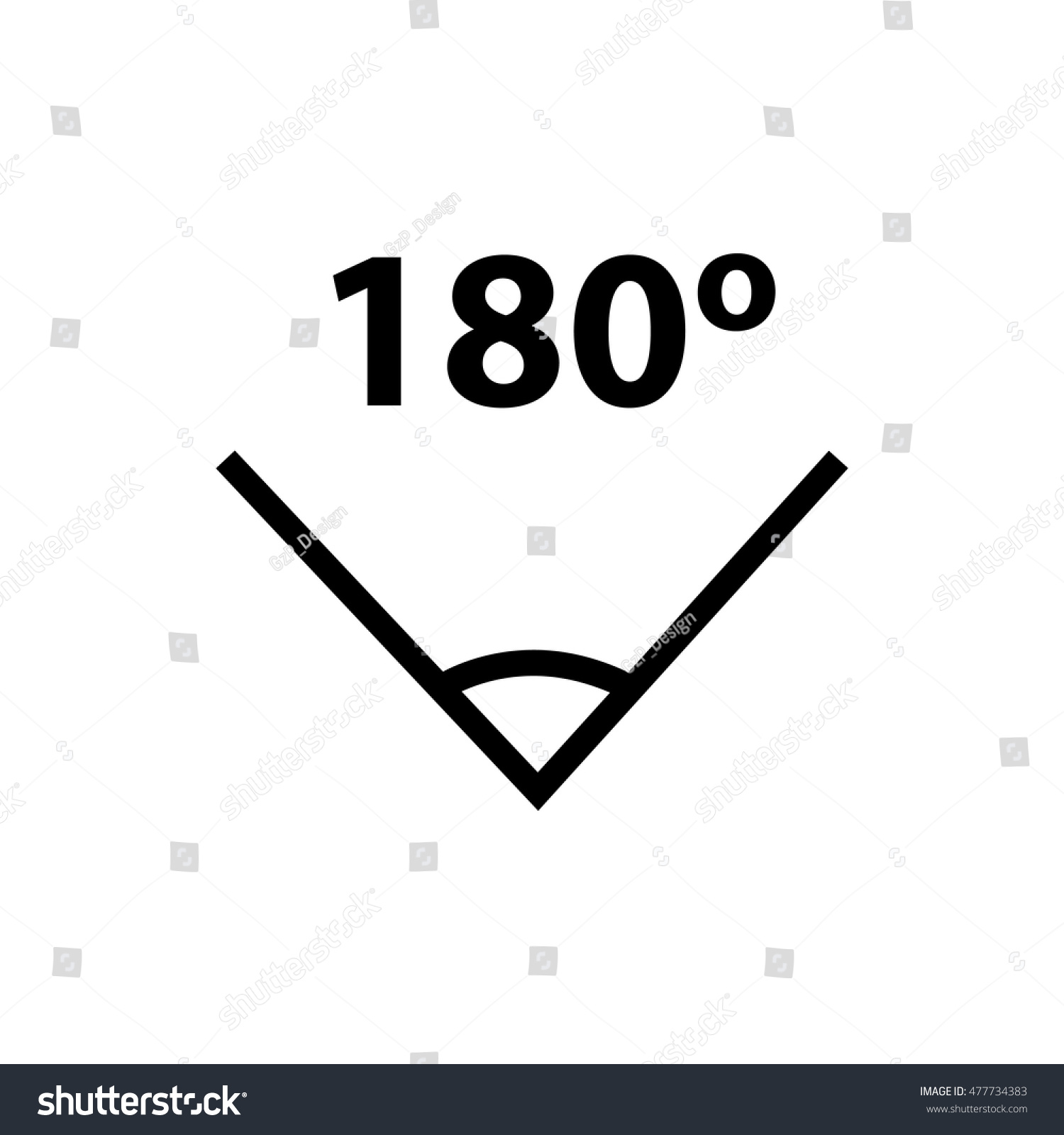 180 Degree Angle Icon Led Light Stock Vector Royalty Free