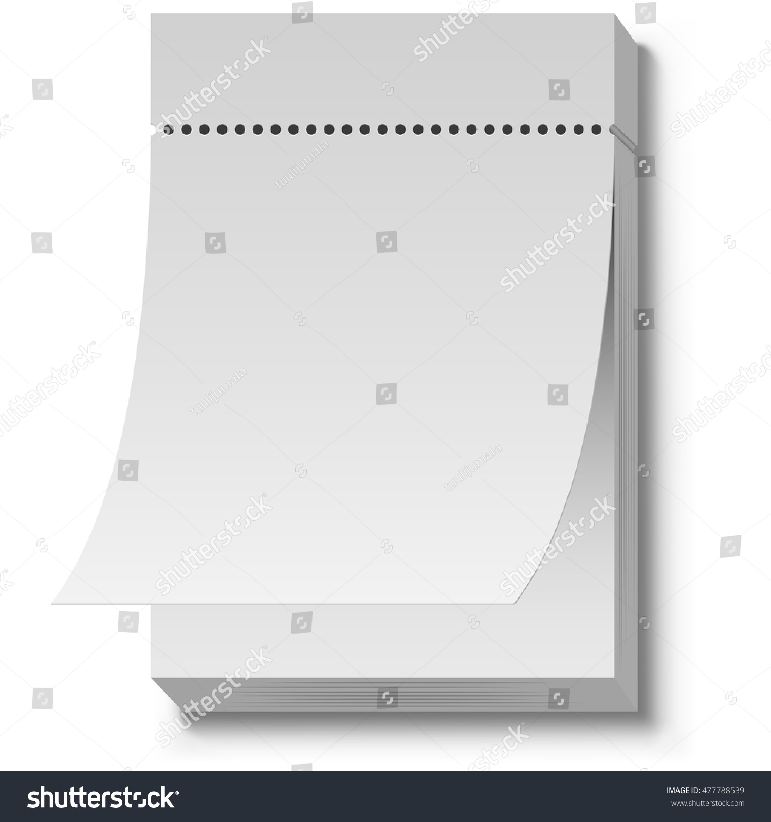 Blank White Tear Off Wall Calendar Stock Vector HD (Royalty Free ...