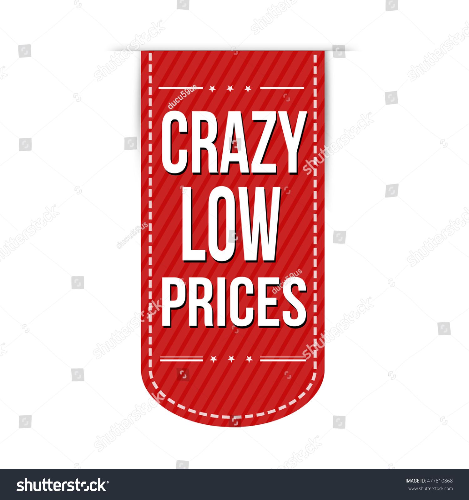 crazy low prices banner design over stock vector 477810868 shutterstock