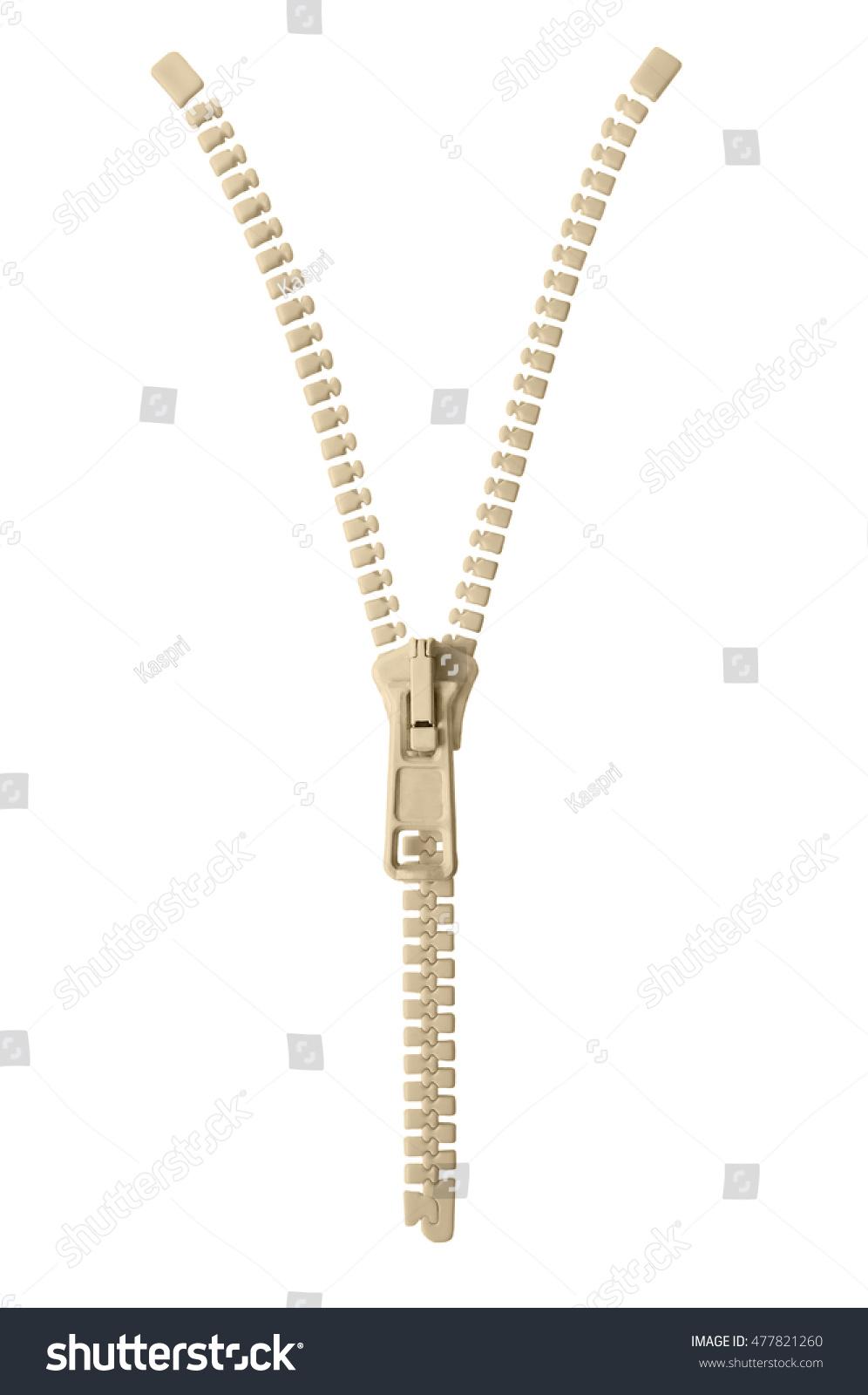 Open Beige Zipper Pull Concept Unzip Stock Photo 477821260 ...