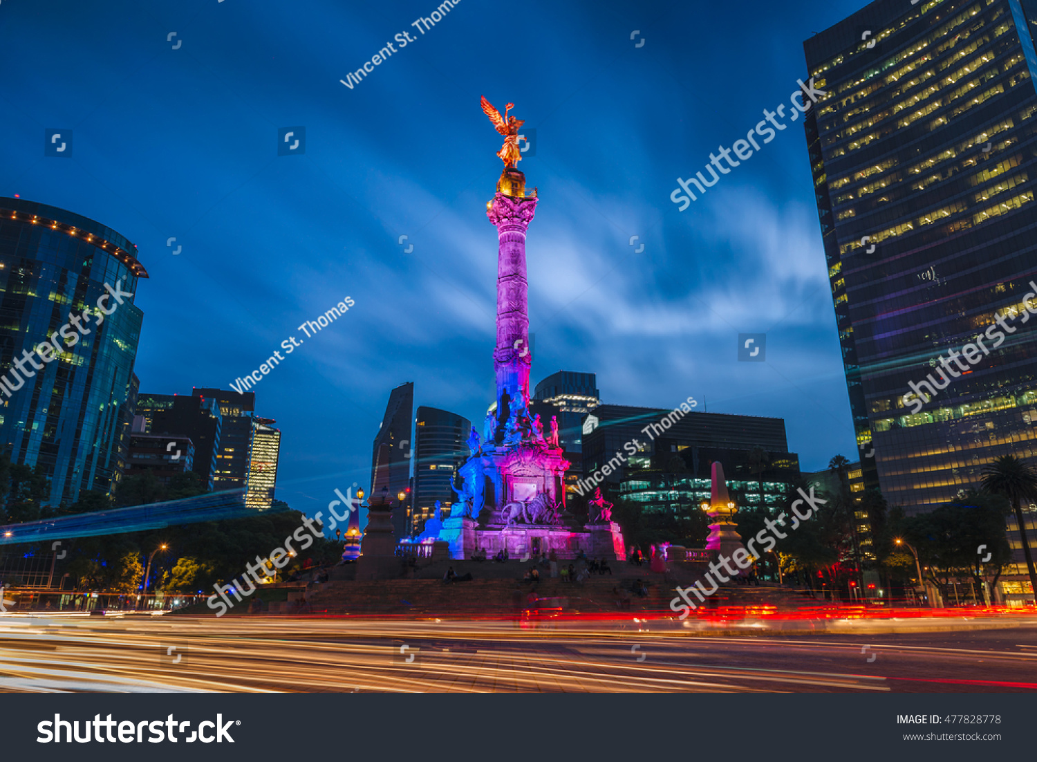stock photo the angel of independence in mexico city mexico 477828778 - asdasd