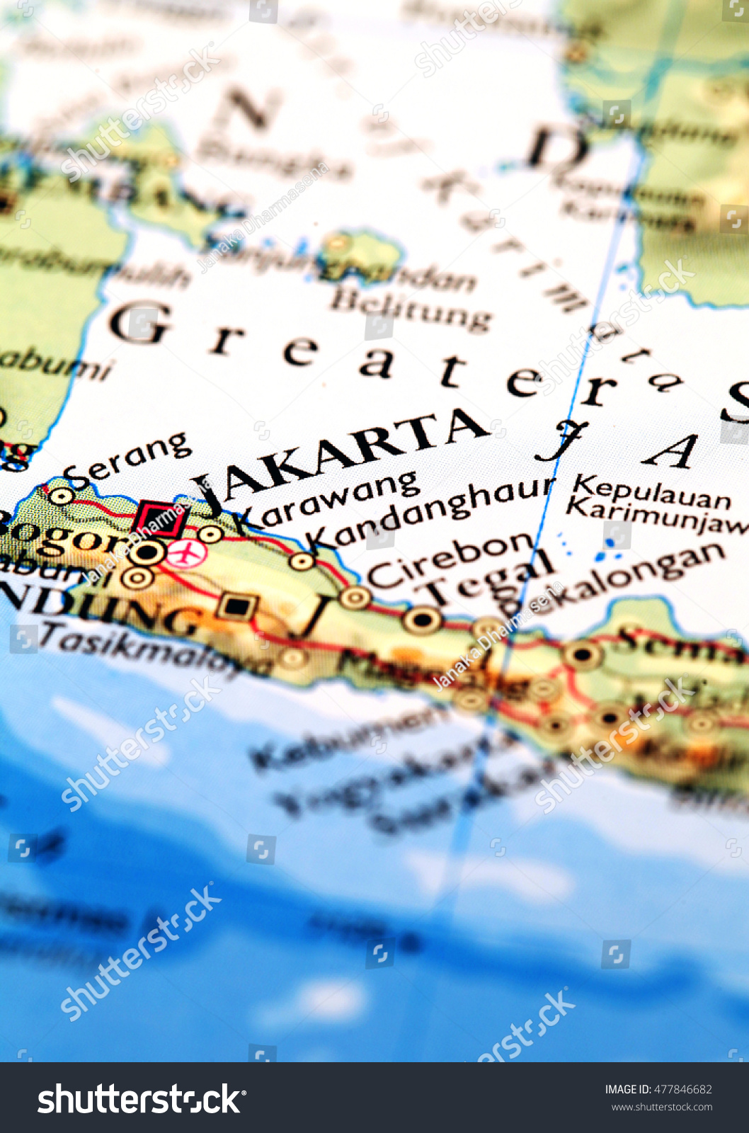Jakarta indonesia on atlas world map stock photo 100 legal jakarta indonesia on atlas world map gumiabroncs Images