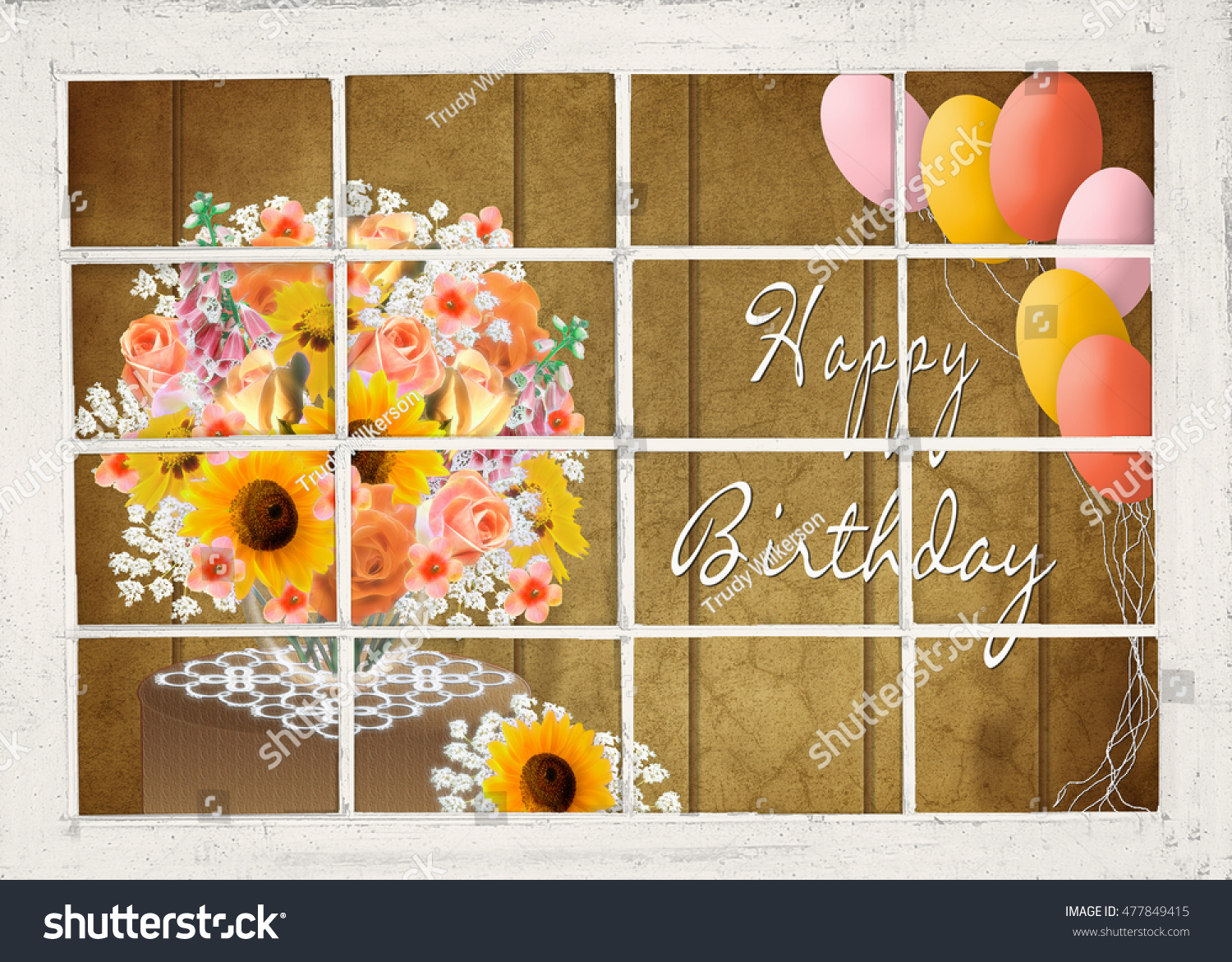 Birthday flower balloons note flowers have stock photo edit now birthday flower and balloons note flowers have fractals affects for interest fall season background izmirmasajfo
