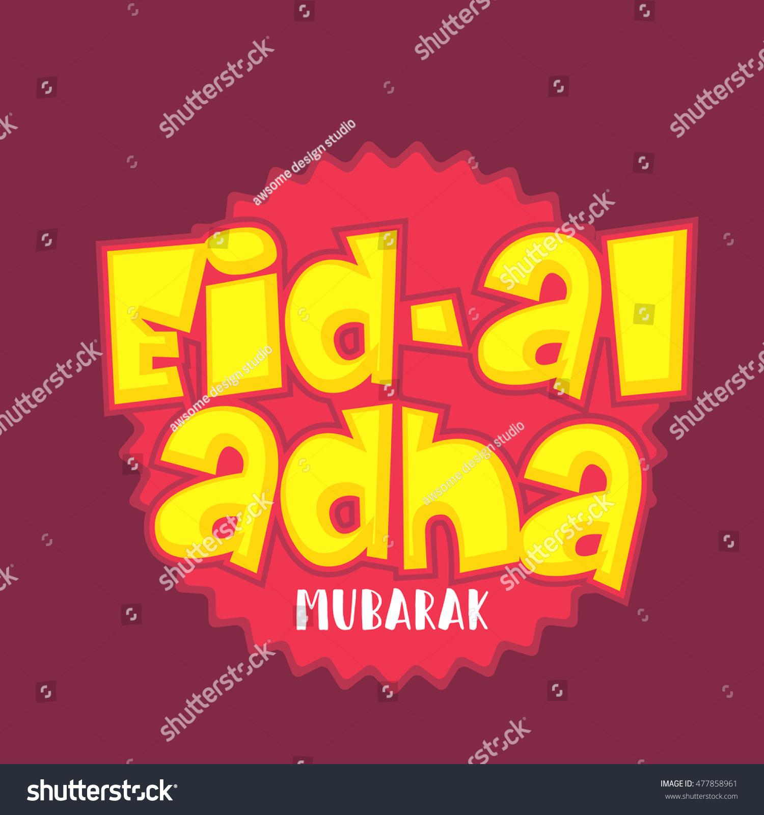 A beautiful sticker or label of eid al adha celebration background