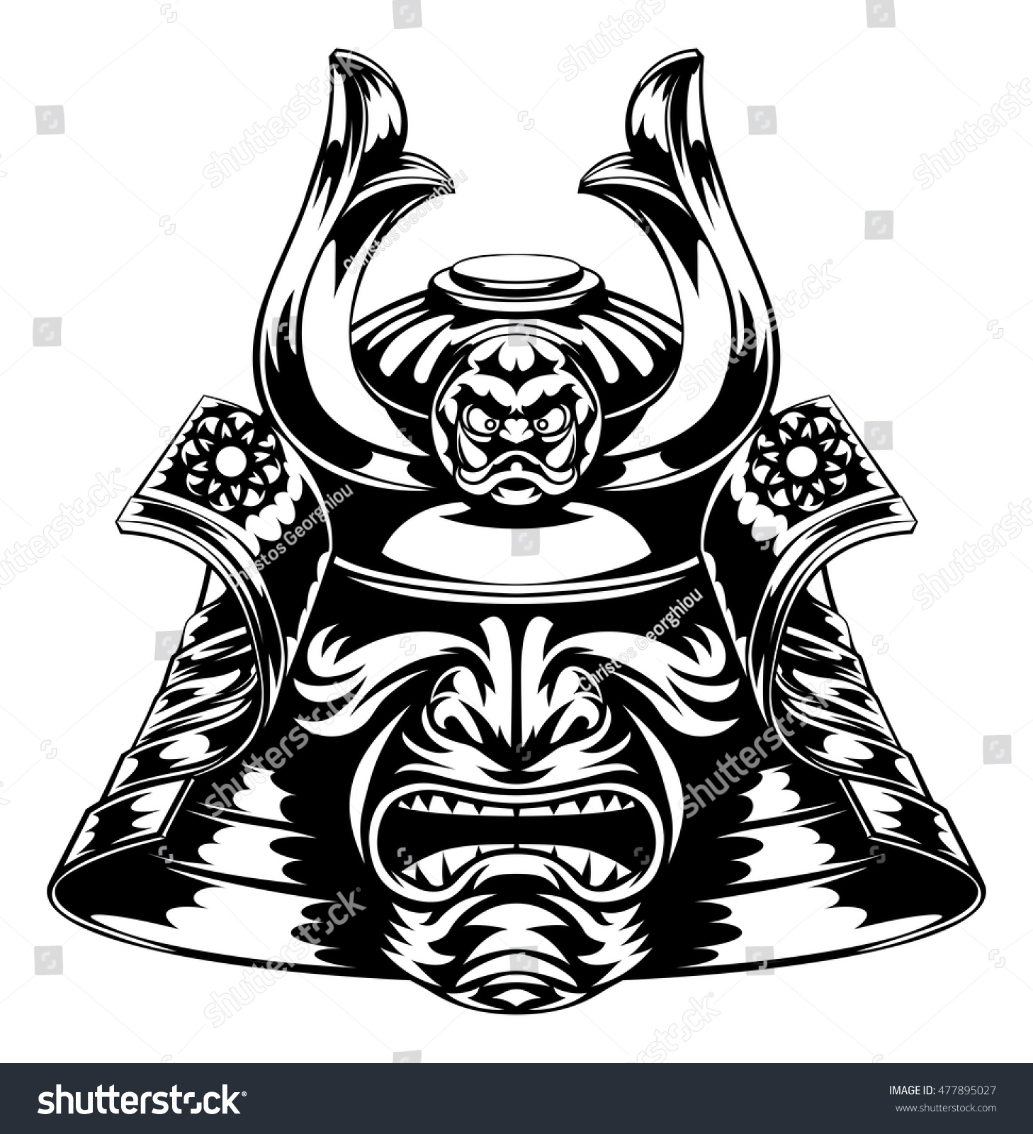 Japanese Samurai Mask ...