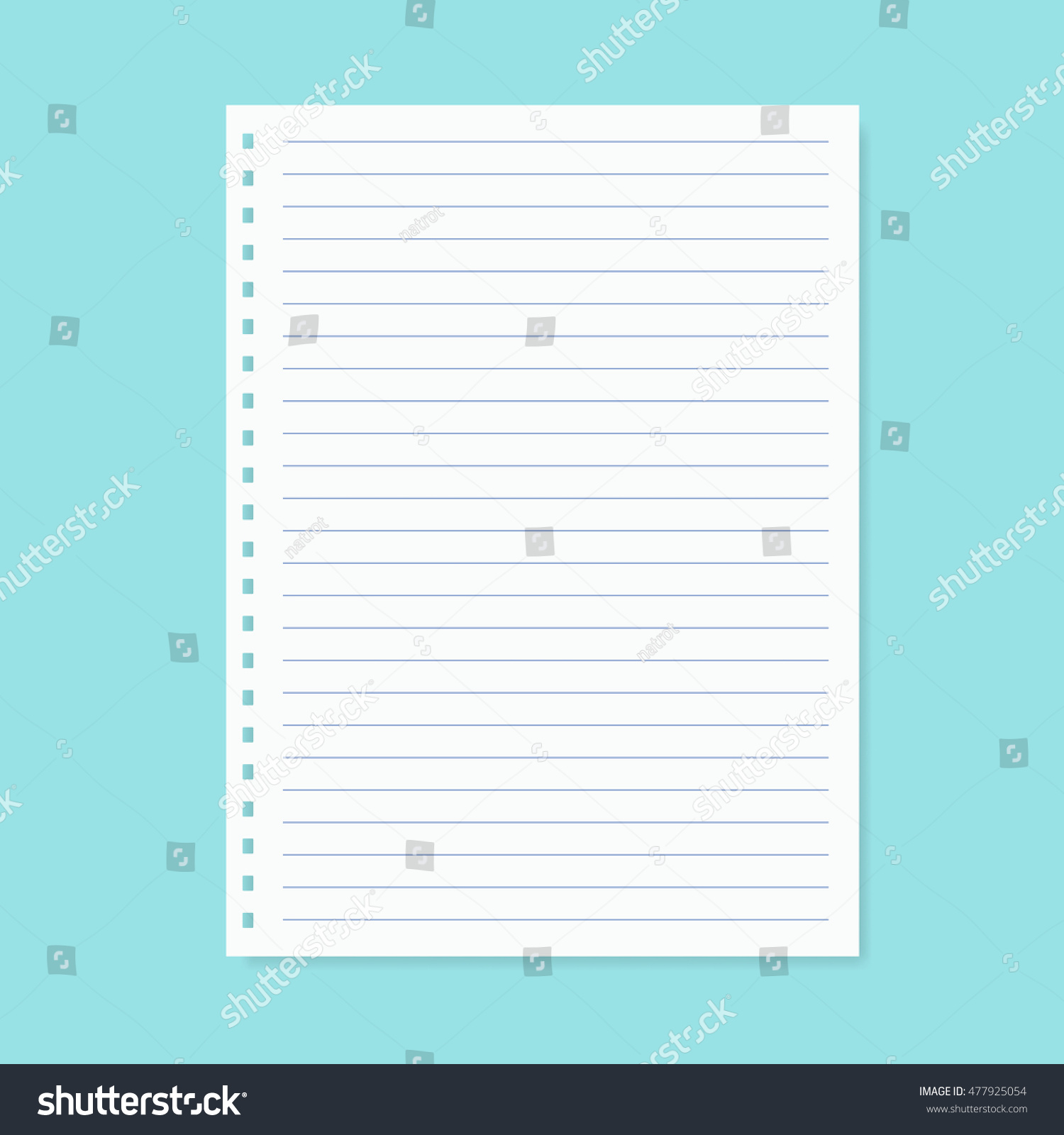 Great Sample Notebook Paper Pest Control Worker Cover Letter Sales Stock  Vector Blank Notebook Paper Vector