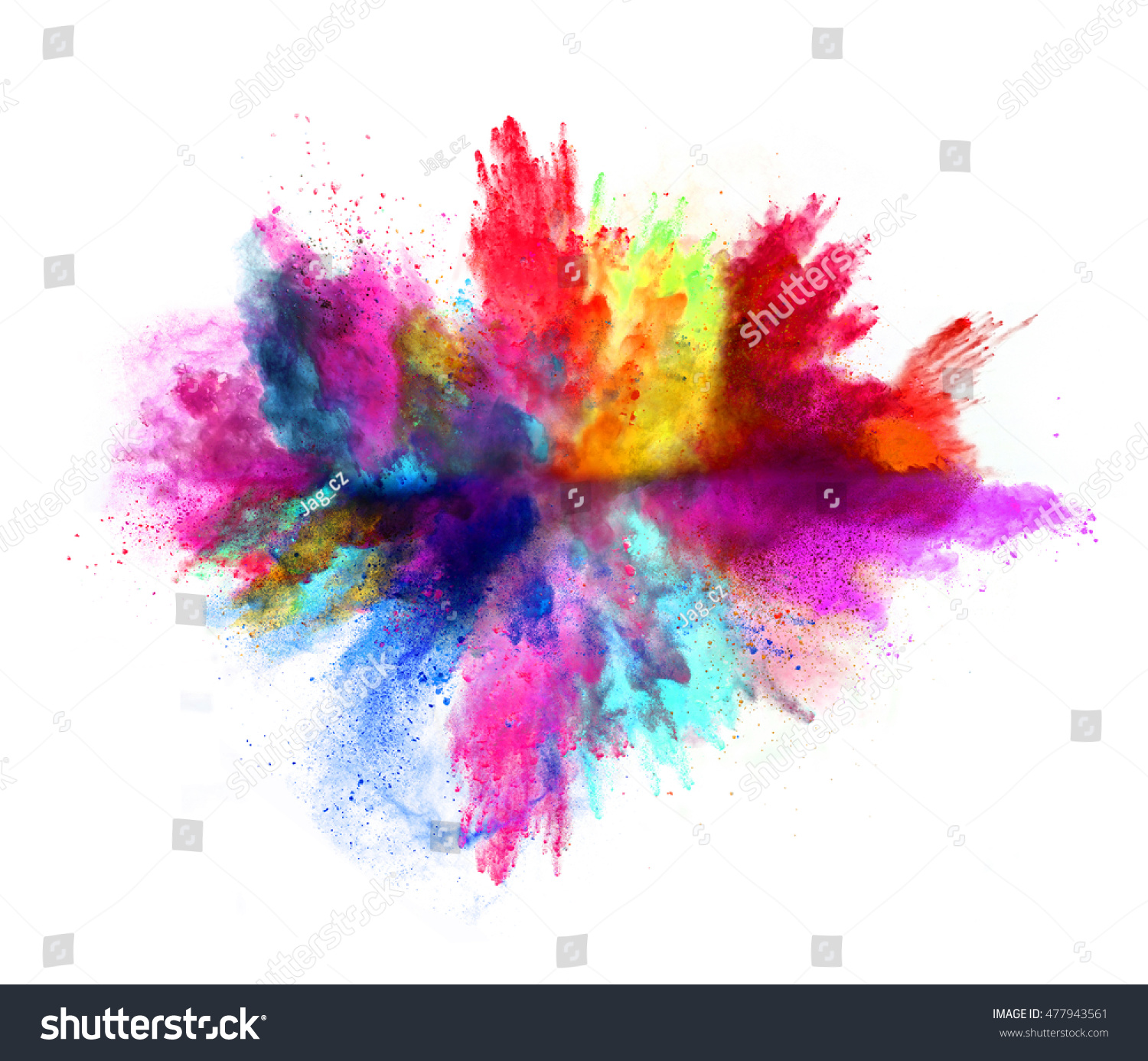 Explosion of colored powder, isolated on white background #477943561 - 123PhotoFree.com