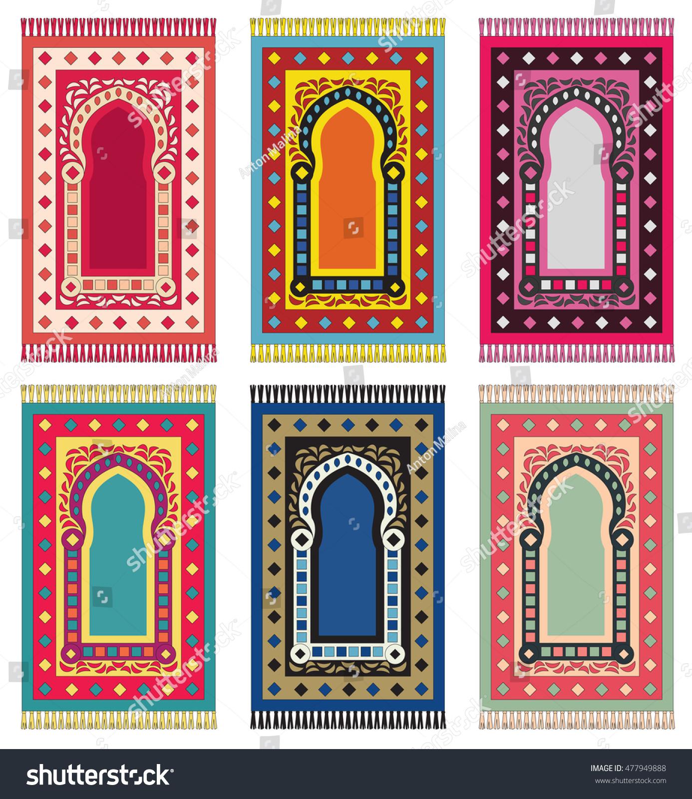 Muslim Prayer Rug. Islamic Textile. Mosque Flooring. Praying Mats. Middle  Eastern Pattern