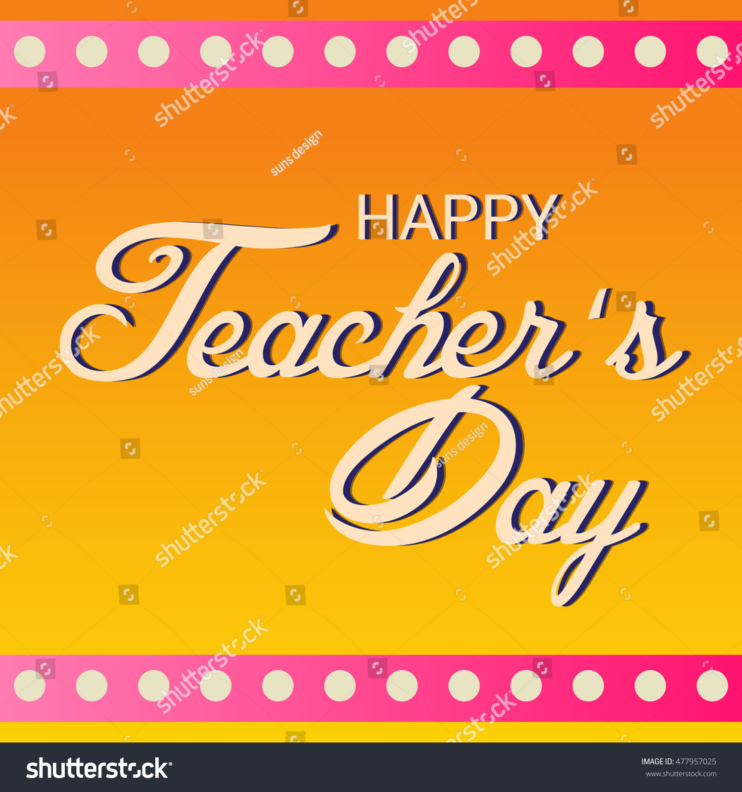Vector illustration greeting card teachers day stock vector vector illustration of a greeting card of teachers day celebration kristyandbryce Image collections