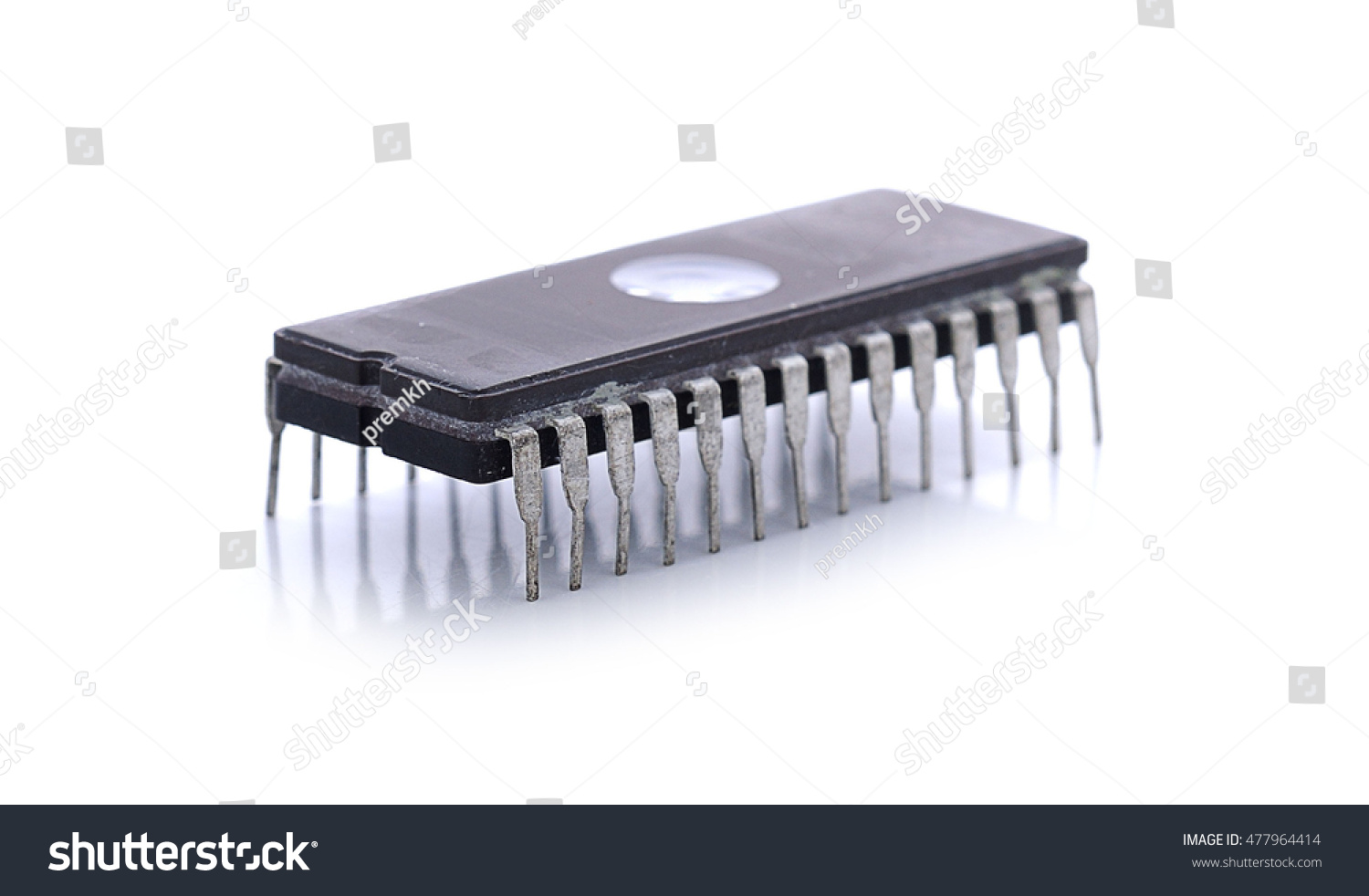 Integrated Circuit In Dip Package Isolated On The White Background Circuits Microcontrollers Id 477964414