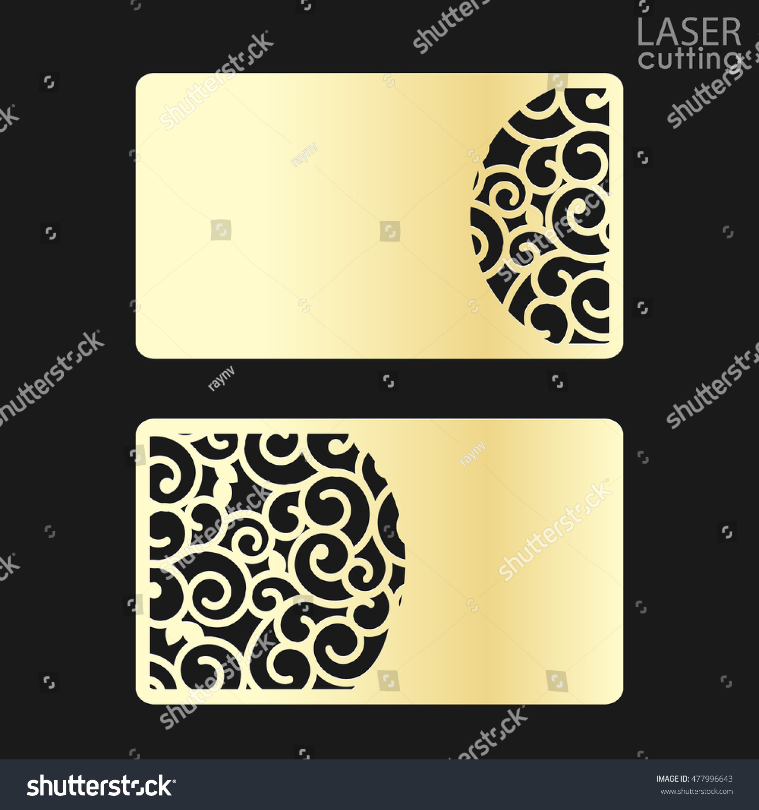 business card couple template cut out stock vector