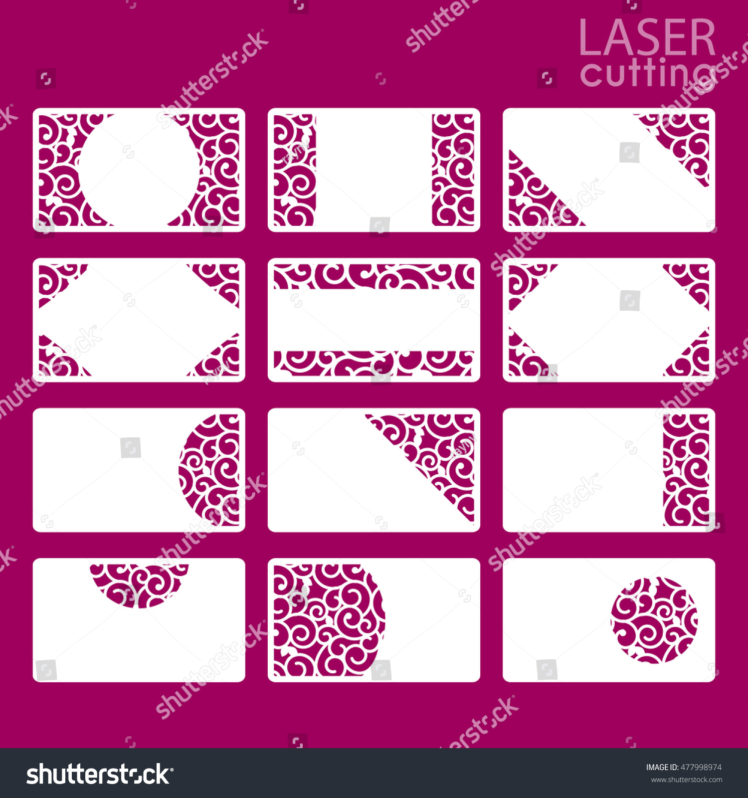 Business Card Collection Template Cut Out Stock Vector Royalty Free