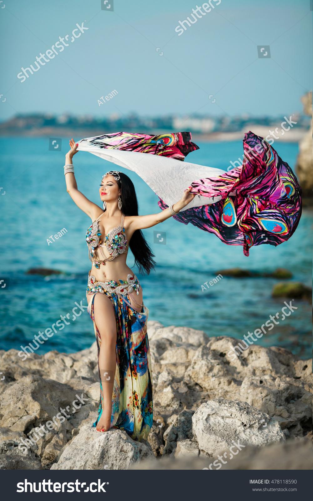 Arab sexy girl in bikini not absolutely