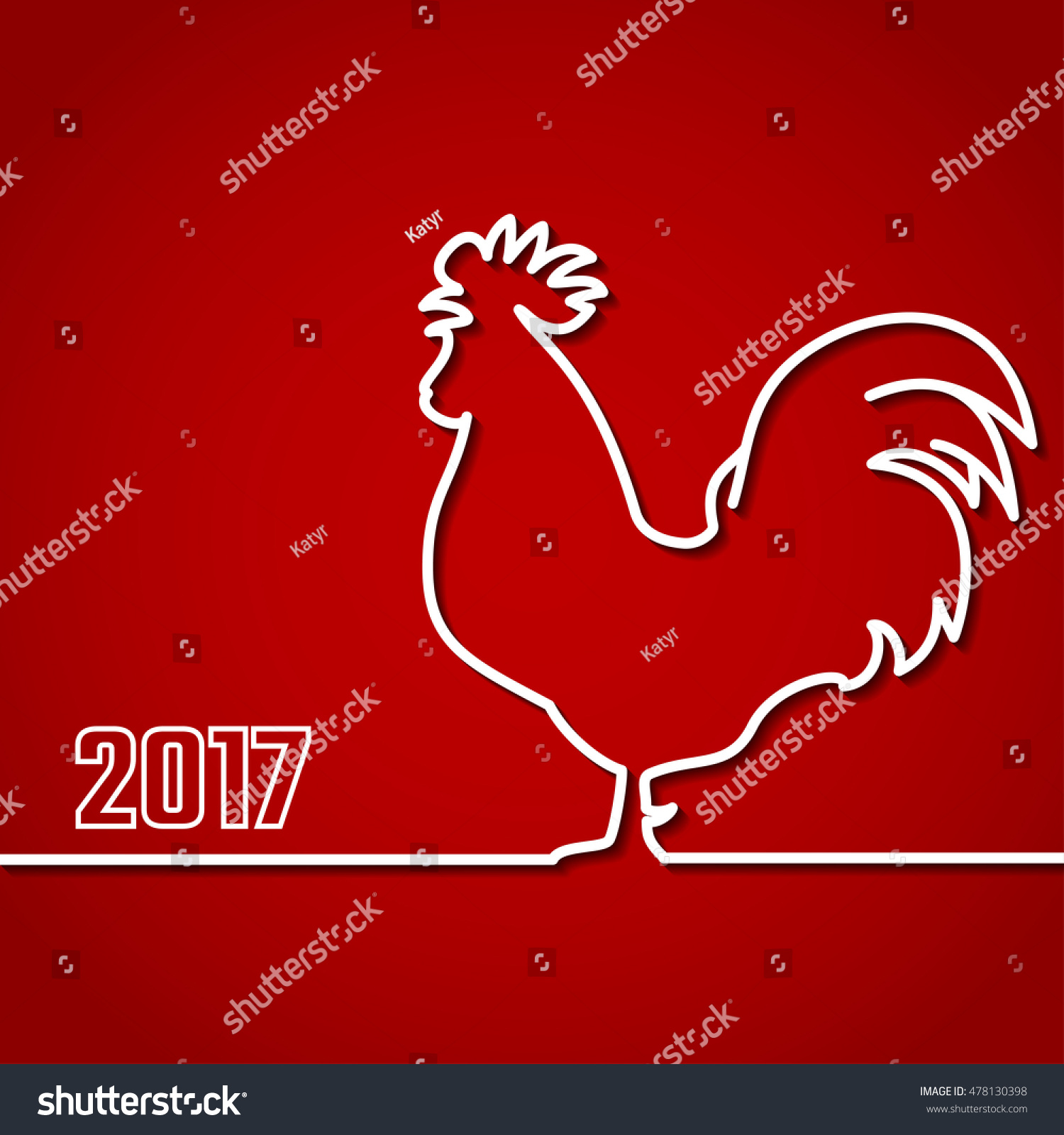 vector illustration 2017 new year outline stock vector 478130398 vector illustration of 2017 new year outline background for design website banner holiday