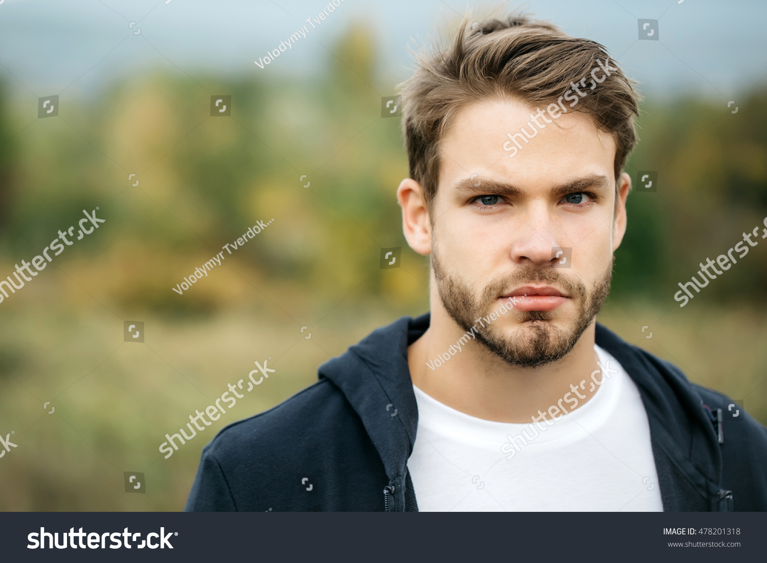 Royalty Free Young Guy With Bearded Handsome Sexy 478201318 Stock