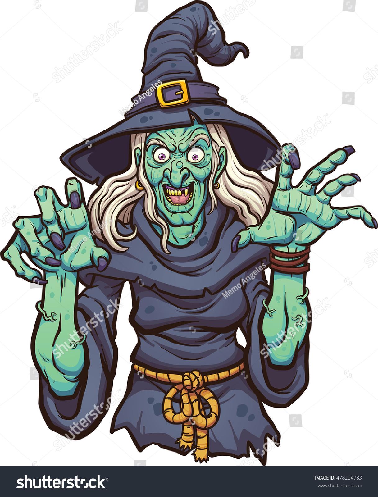 evil cartoon witch vector clip art stock vector 478204783