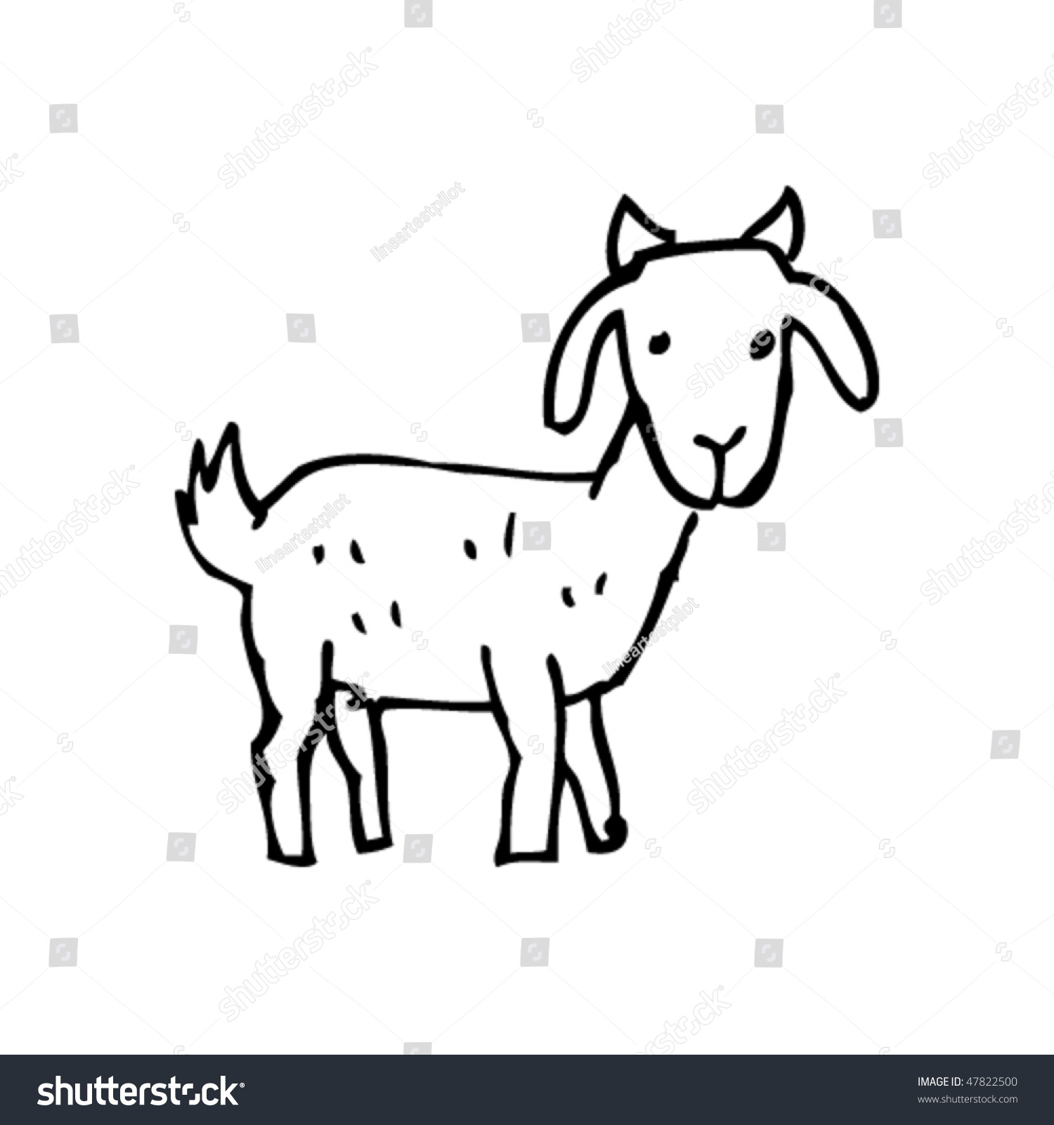Drawing Goat Stock Vector Royalty Free 47822500 Shutterstock