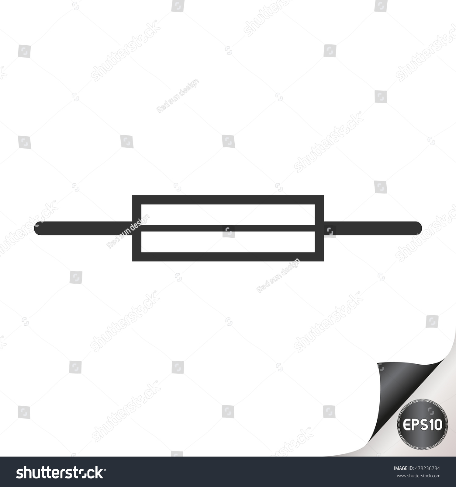 Electronic Circuit Symbols Fuse Stock Vector 478236784 - Shutterstock