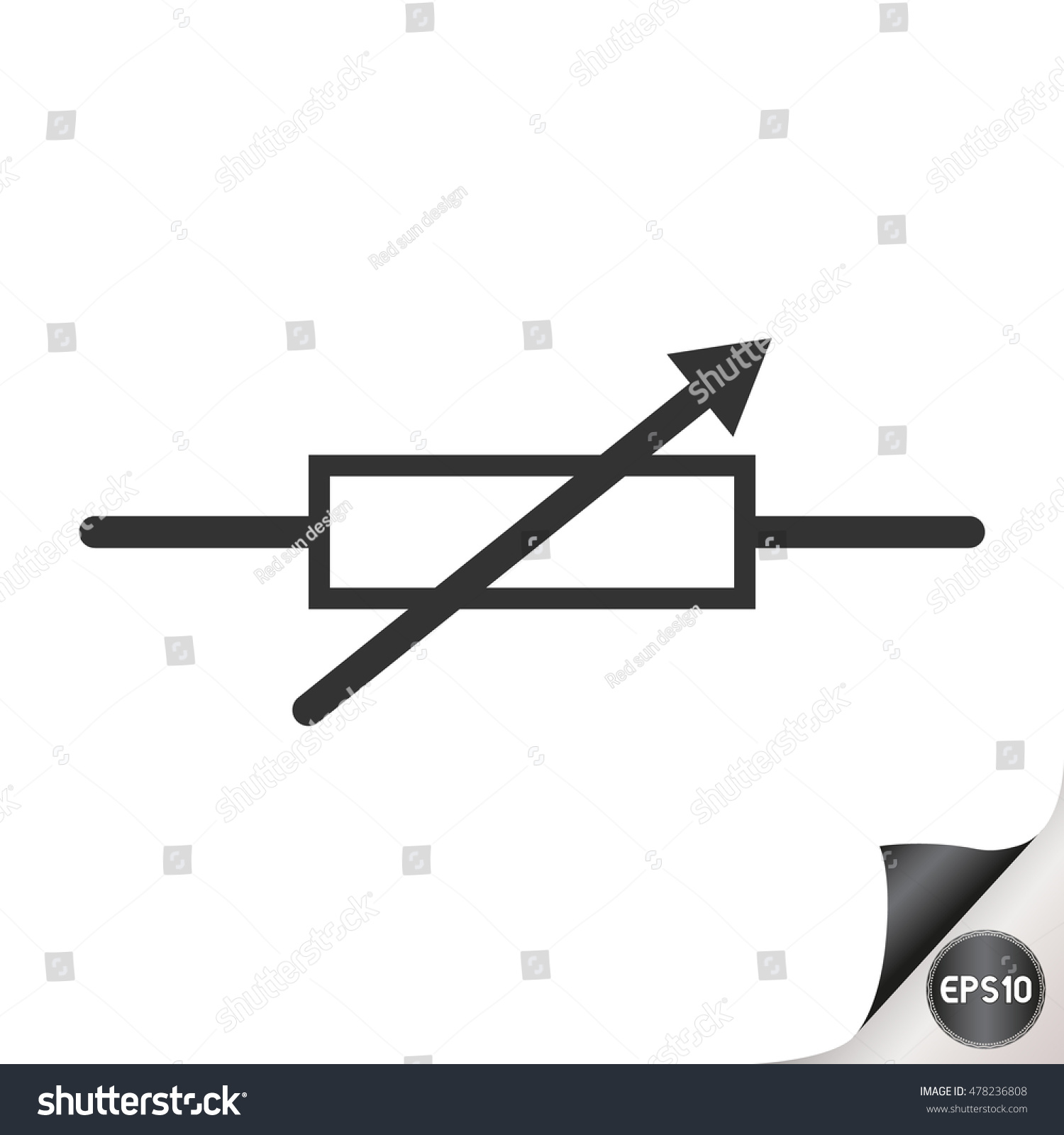 Electronic Circuit Symbols Resistor Stock Vector Royalty Free Schematics Circuits